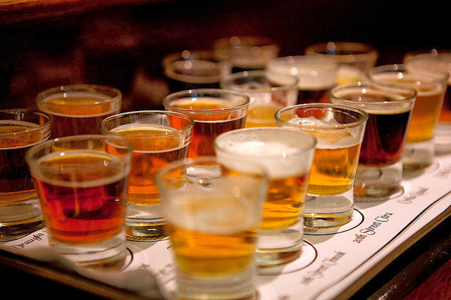 Beer flight. Source:  Christi Nielsen