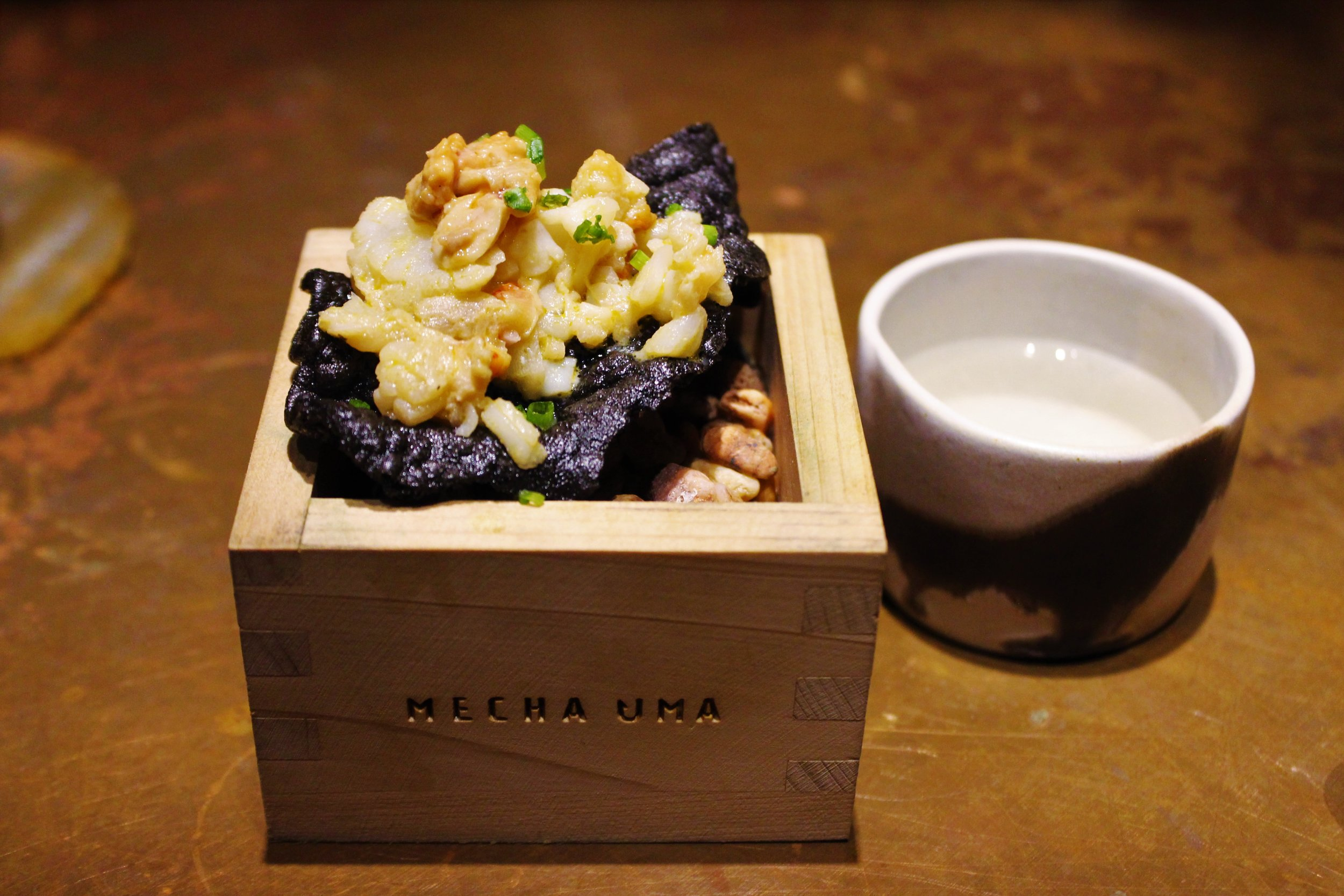 Lobster and Lightly Steamed Monkfish Liver at Mecha Uma in the Philippines