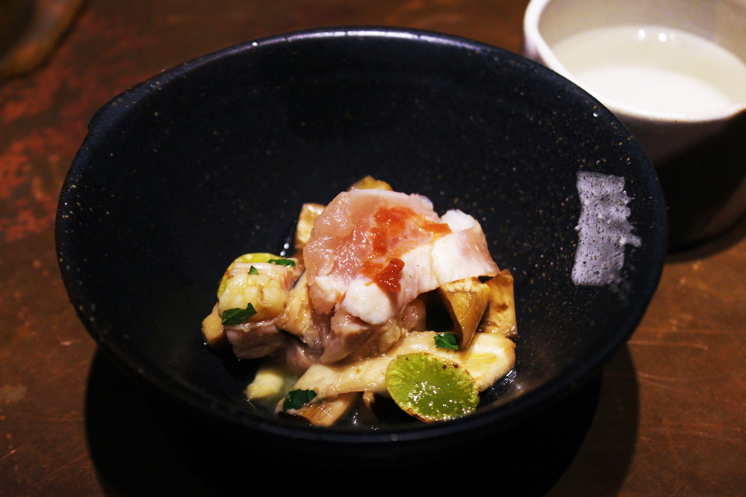 Lightly Seared Chicken Breast Sashimi at Mecha Uma in the Philippines