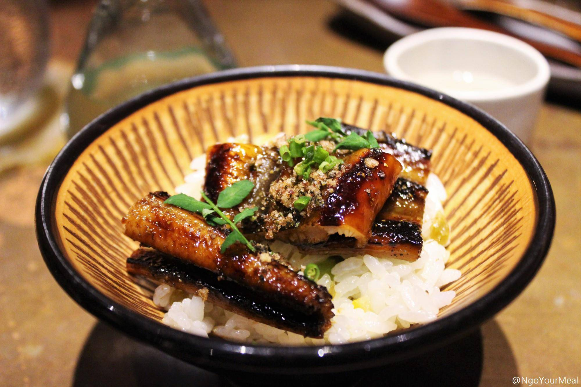 Caramelized Eel from Japan with Seaweed and Soy at Mecha Uma in the Philippines