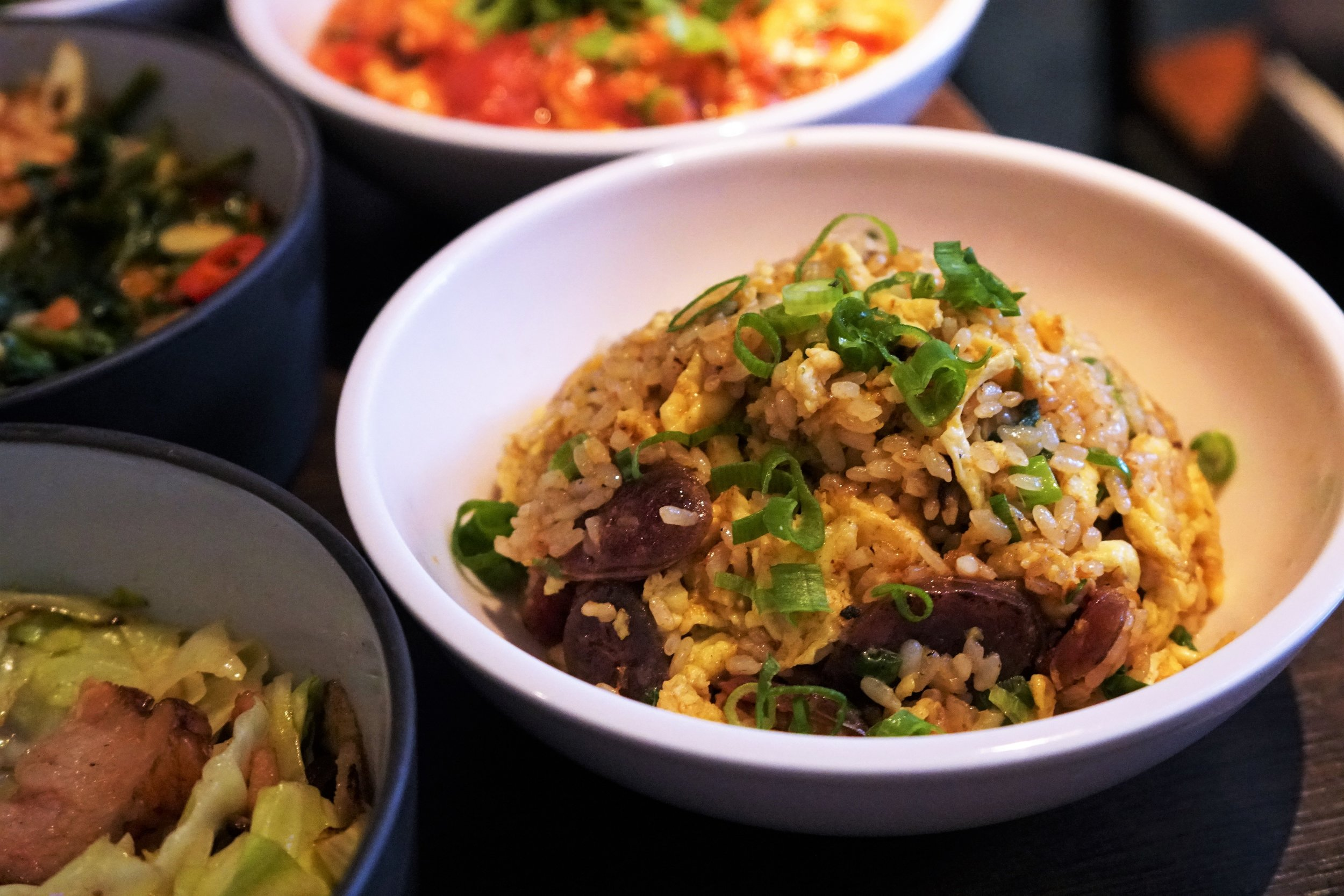 Taiwanese Sausage Fried Rice at 886 in New York City