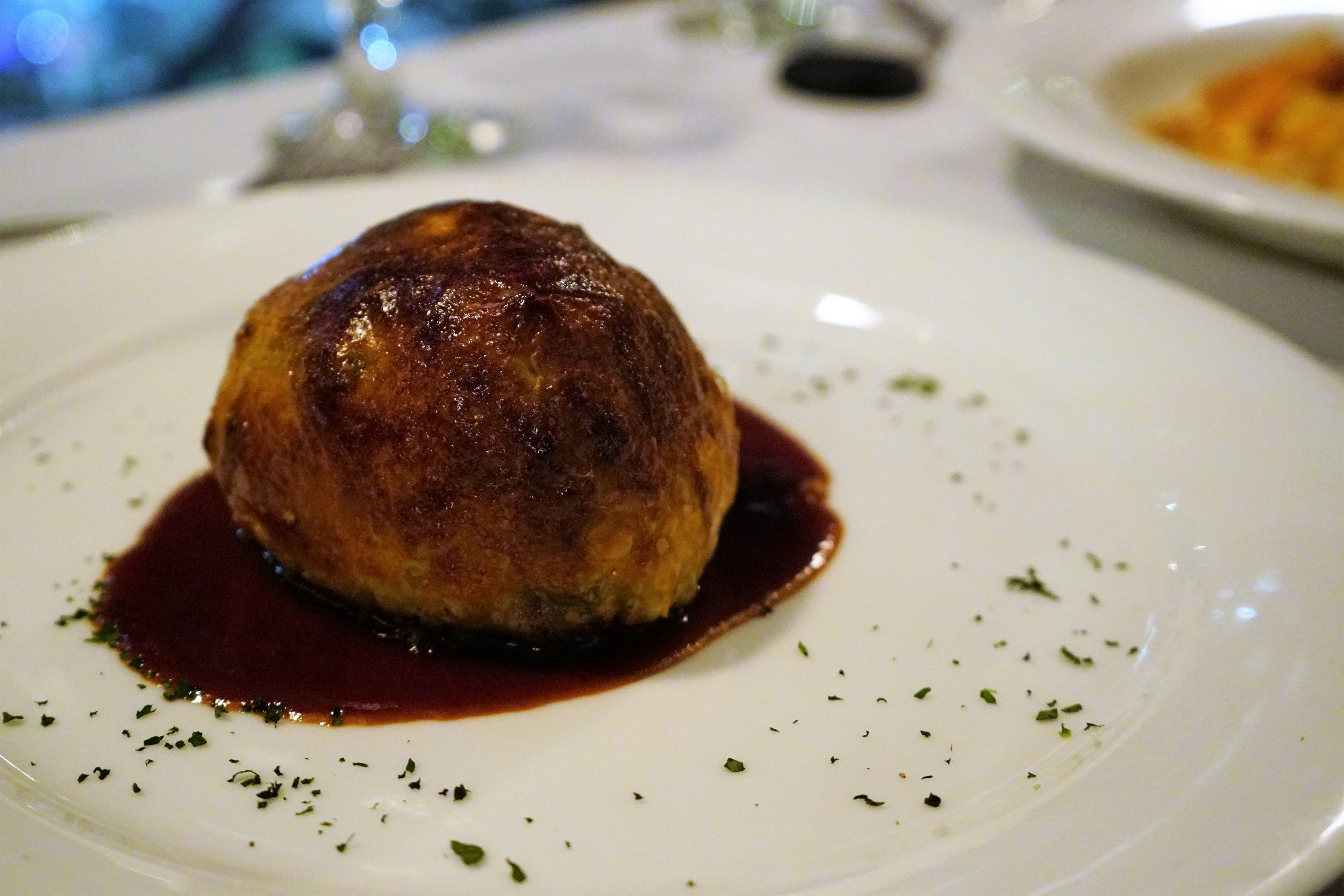 Medium Rare Beef Wellington at Marliave in Boston