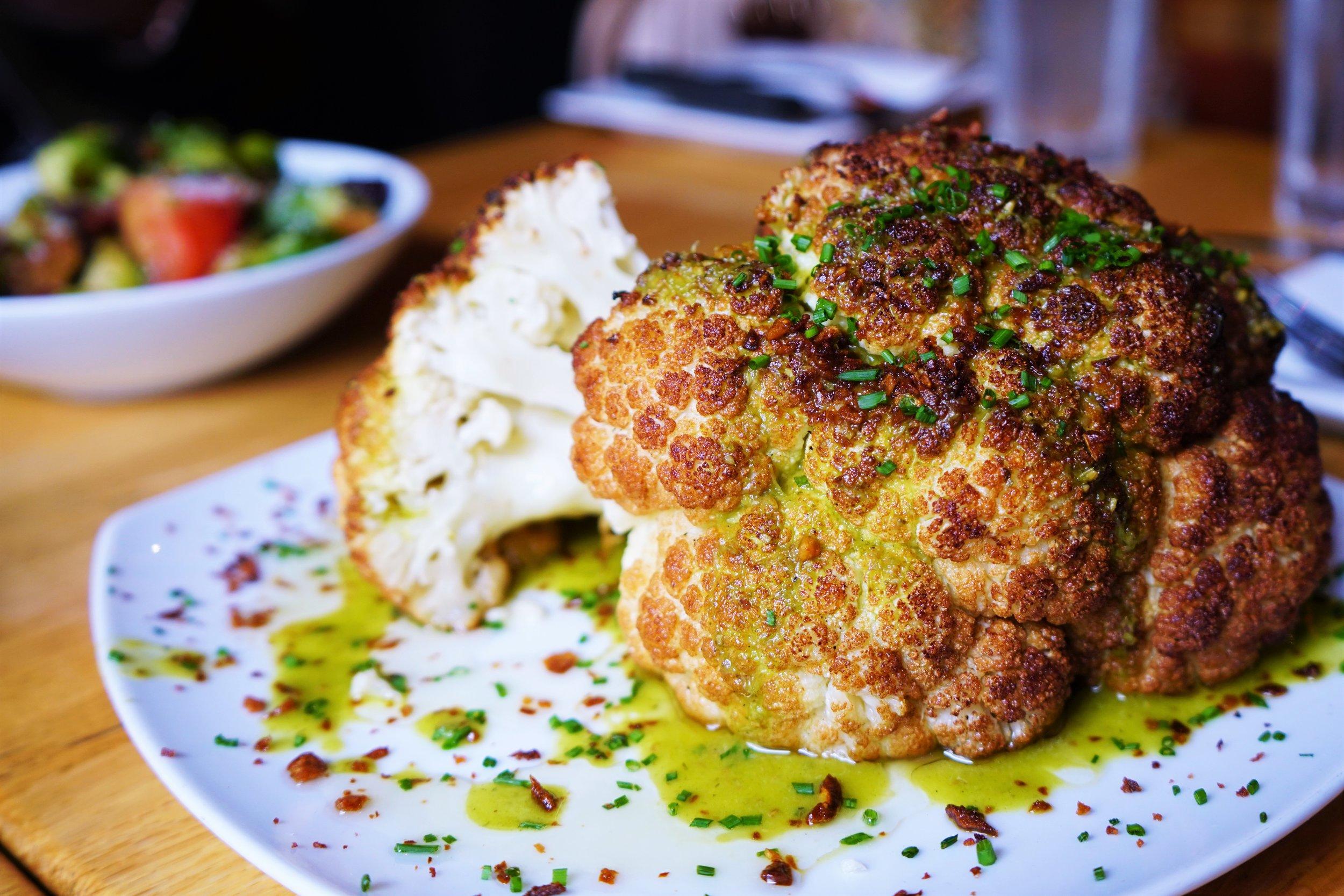 Cauliflower with Crispy Garlic, Citrus & Cumin Vinaigrette at Tip Tap Room in Boston