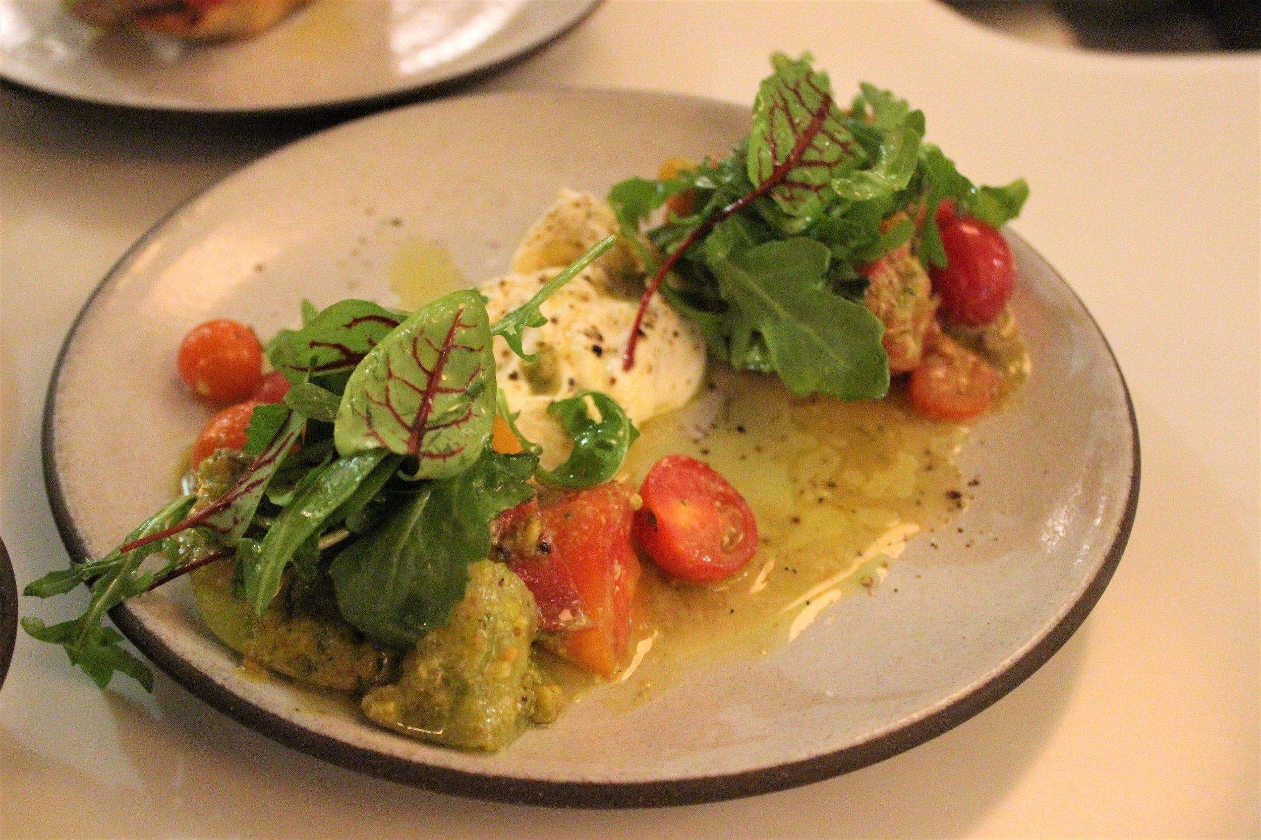 Heirloom Tomato Salad with Burrata at Sportello in Boston