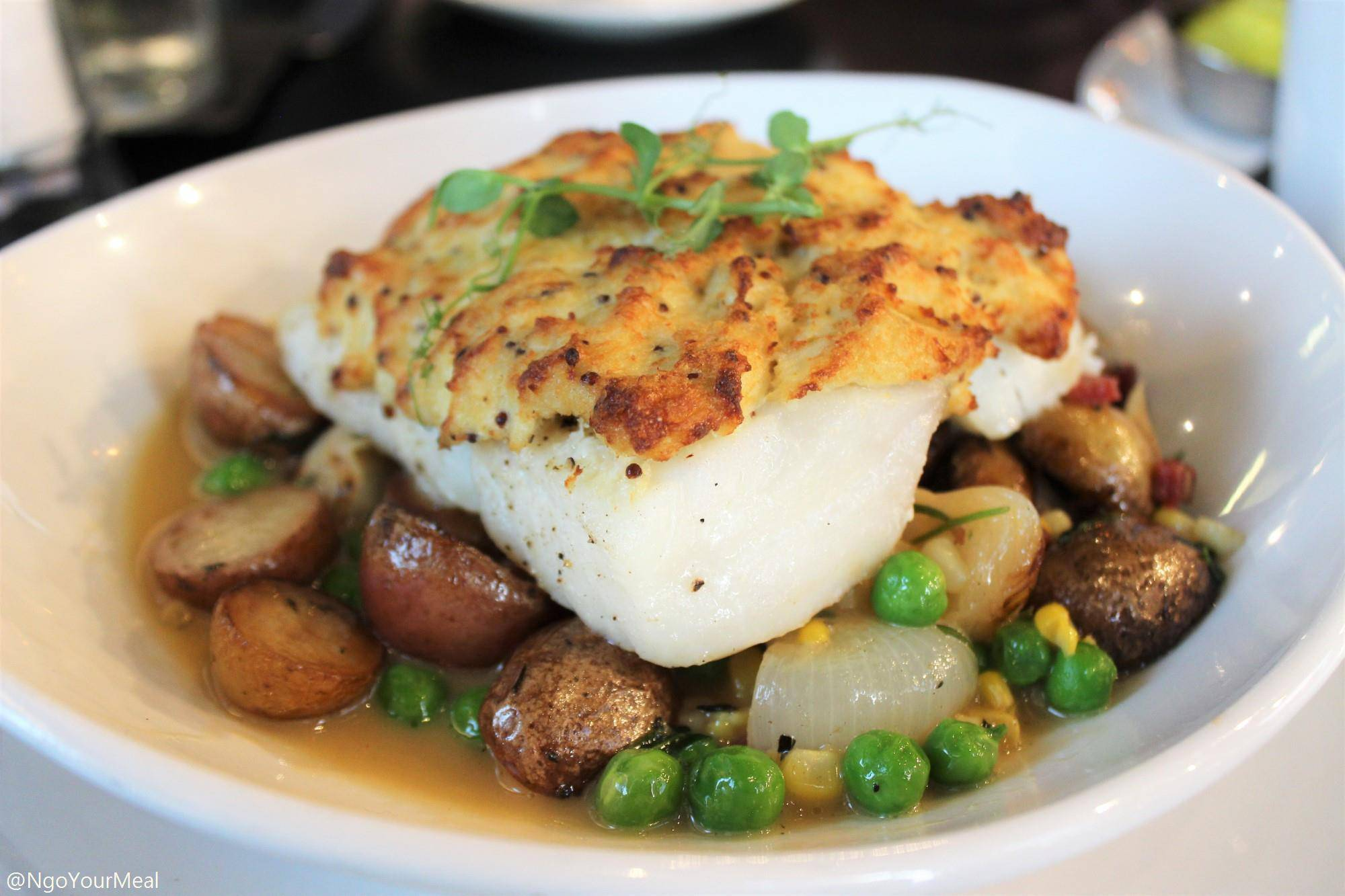 Crab Crusted Cod at Bostonia Public House in Boston
