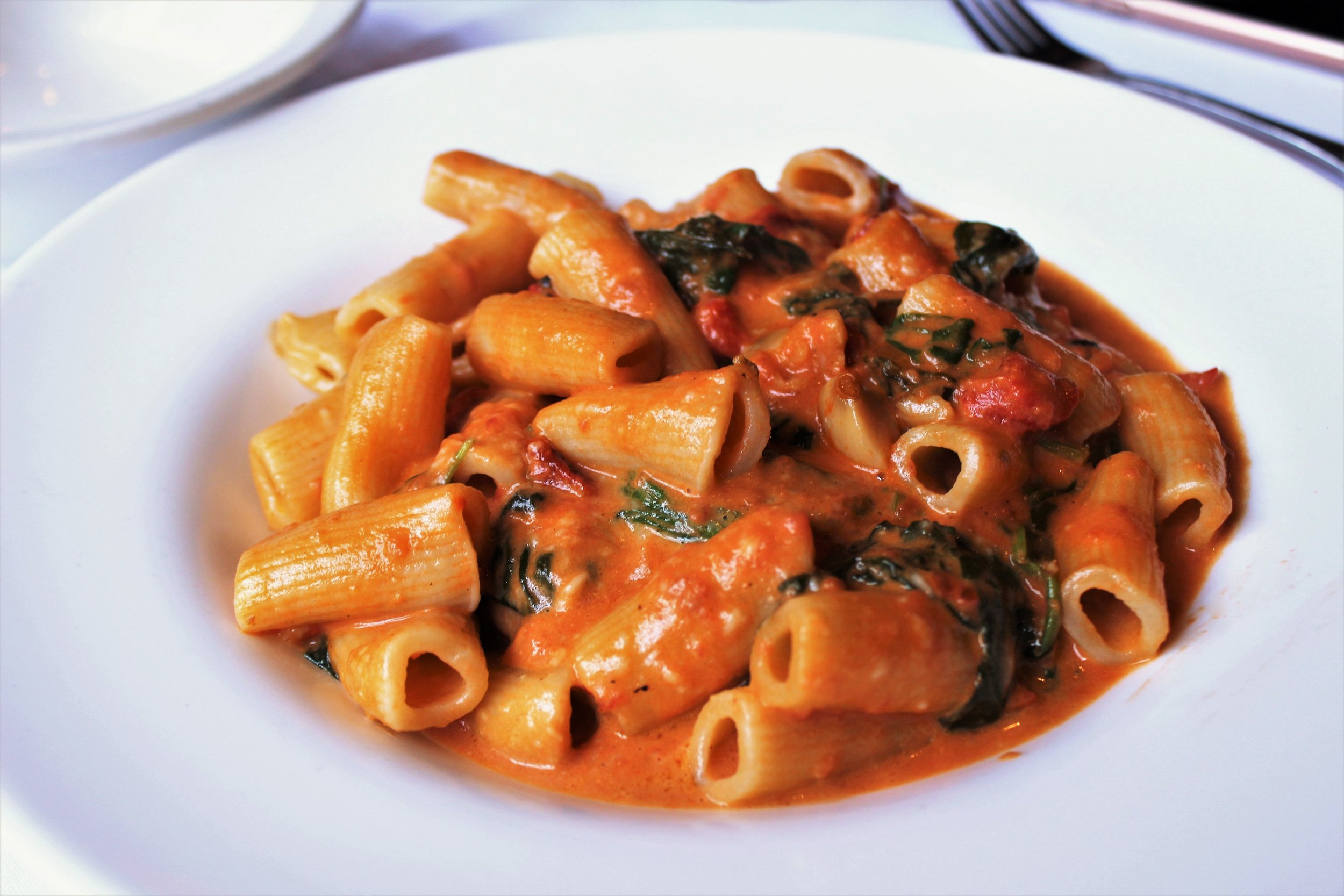 Penne Capricciose at Carmelina's in Boston