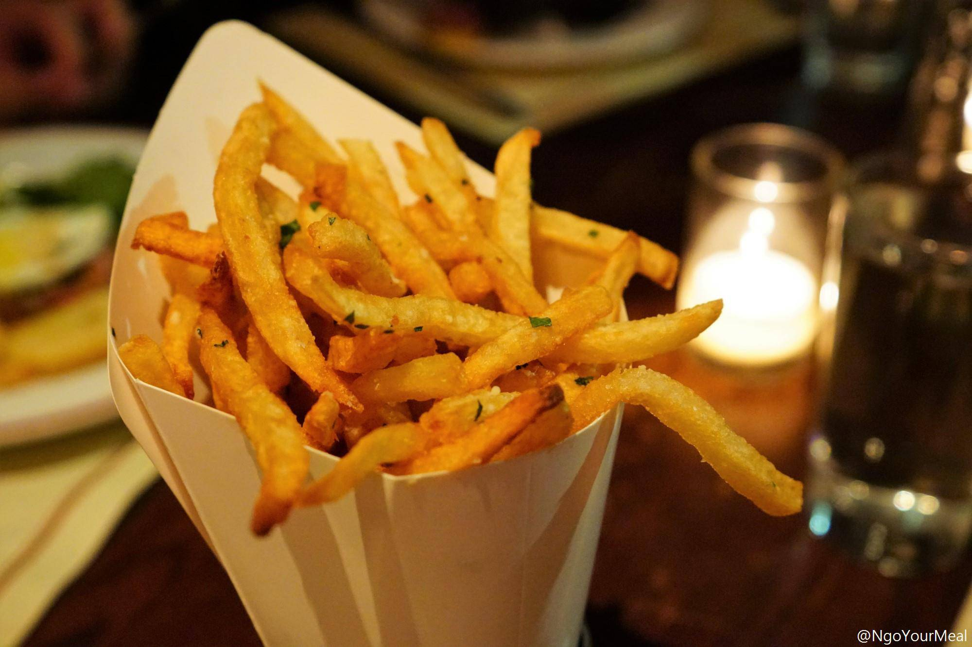 Truffle Pomme Frites with Parmesan, Fines Herbes at Gaslight in Boston