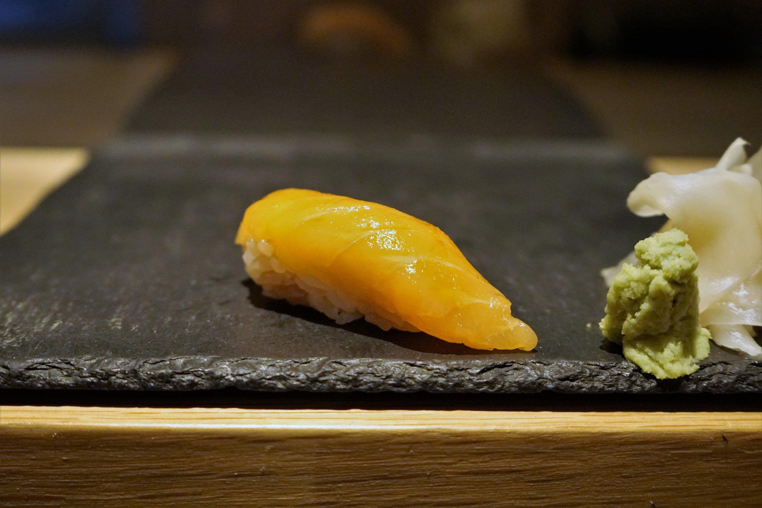 Scottish Salmon Sushi at DOMODOMO in New York City