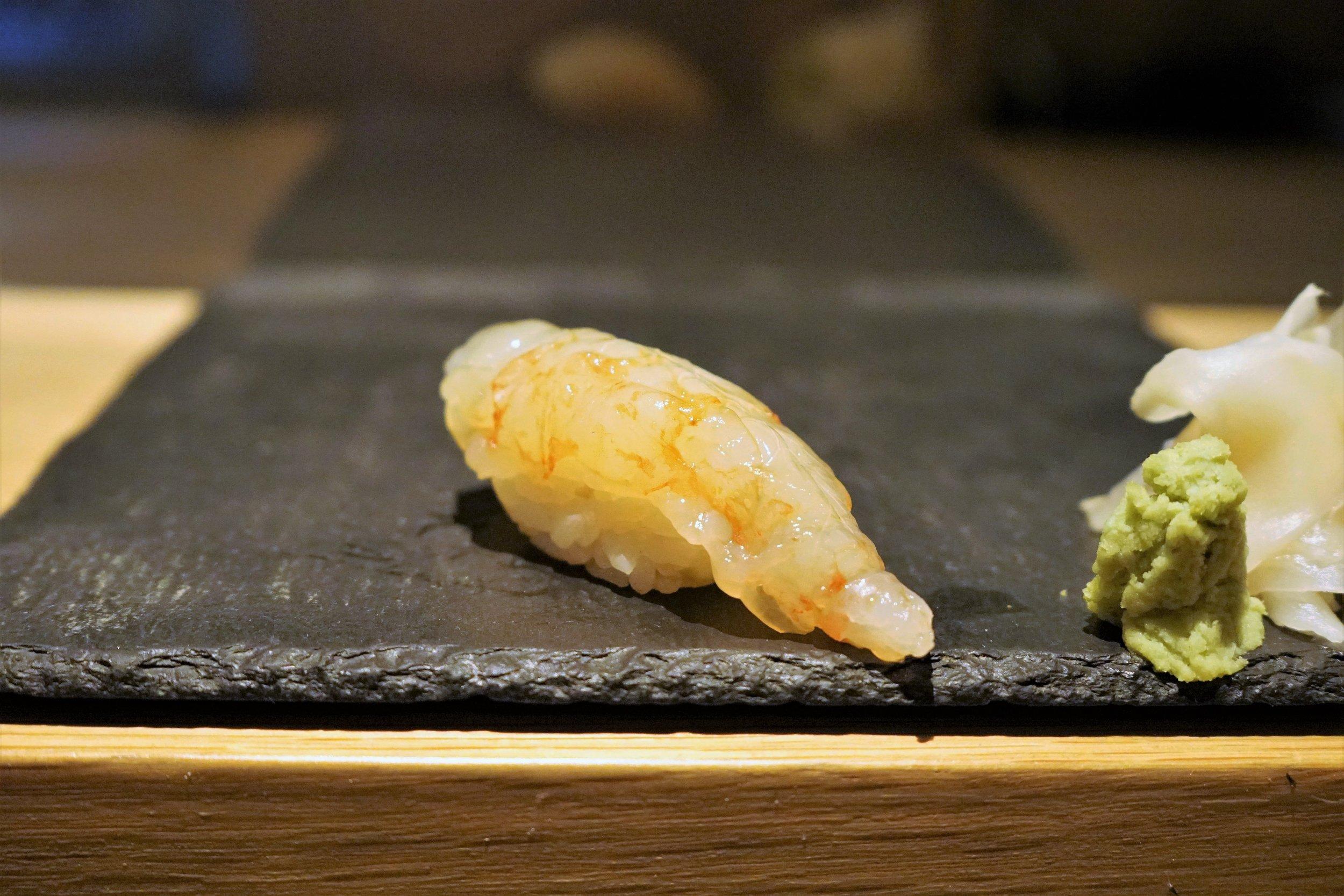Marinated Botan Ebi Sushi at DOMODOMO in New York City