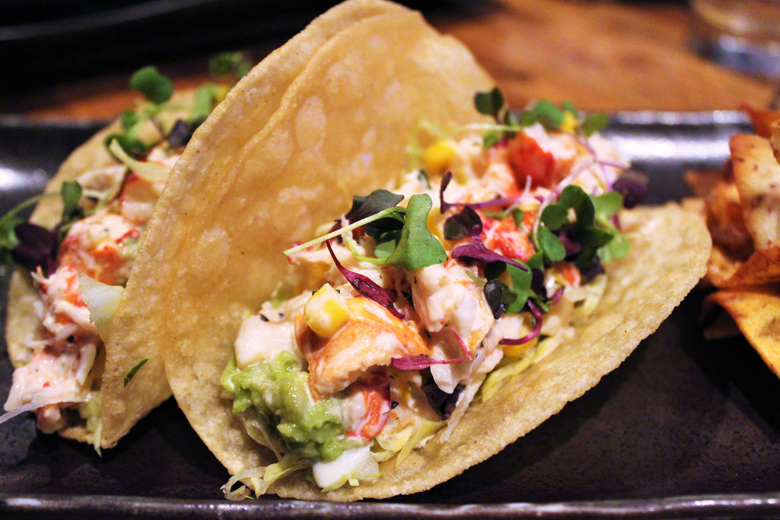 Lobstah Tacos at Crudo in Boston