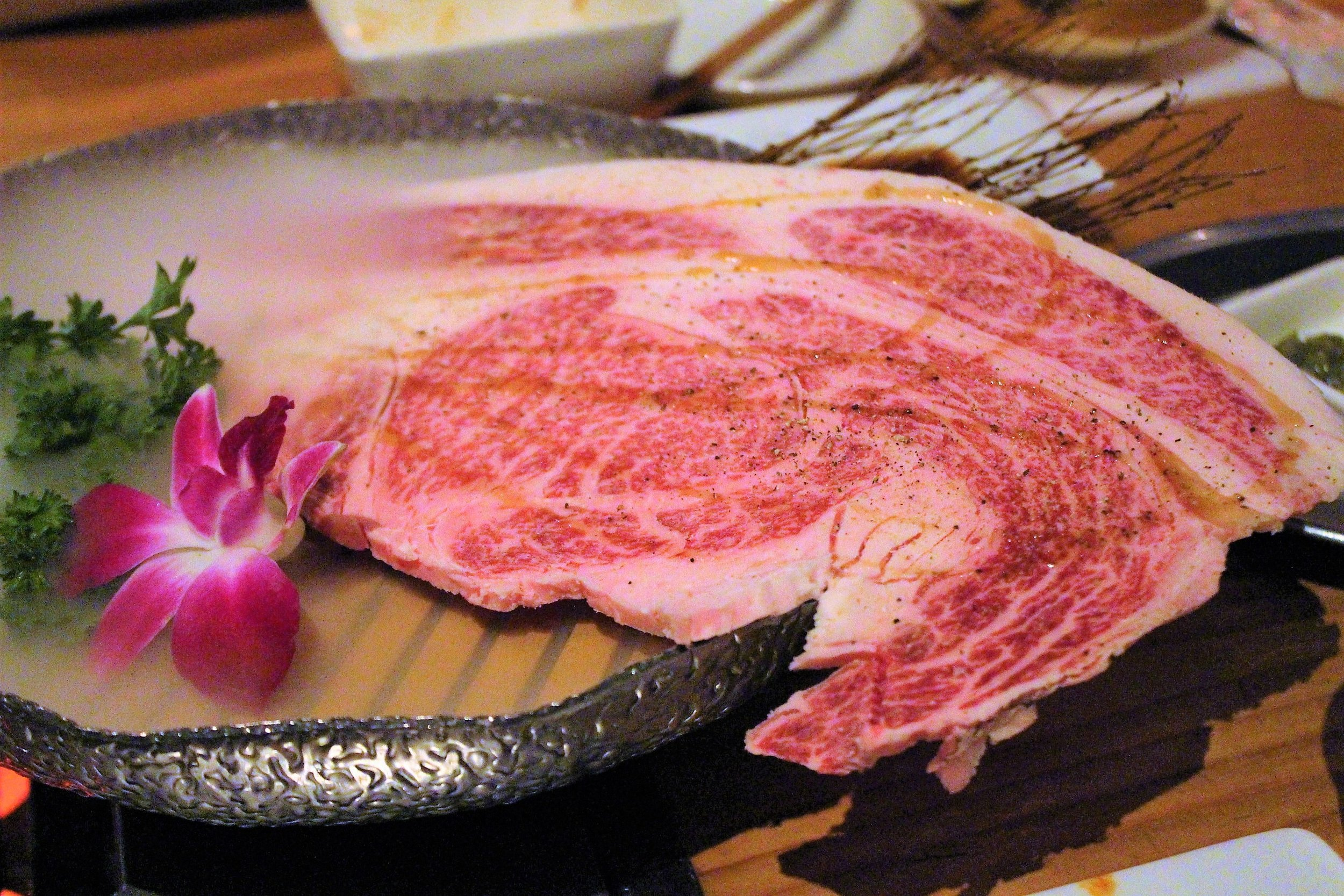 Hamideru Kalbi Japanese Black Wagyu at Yakiniku Futago in New York City