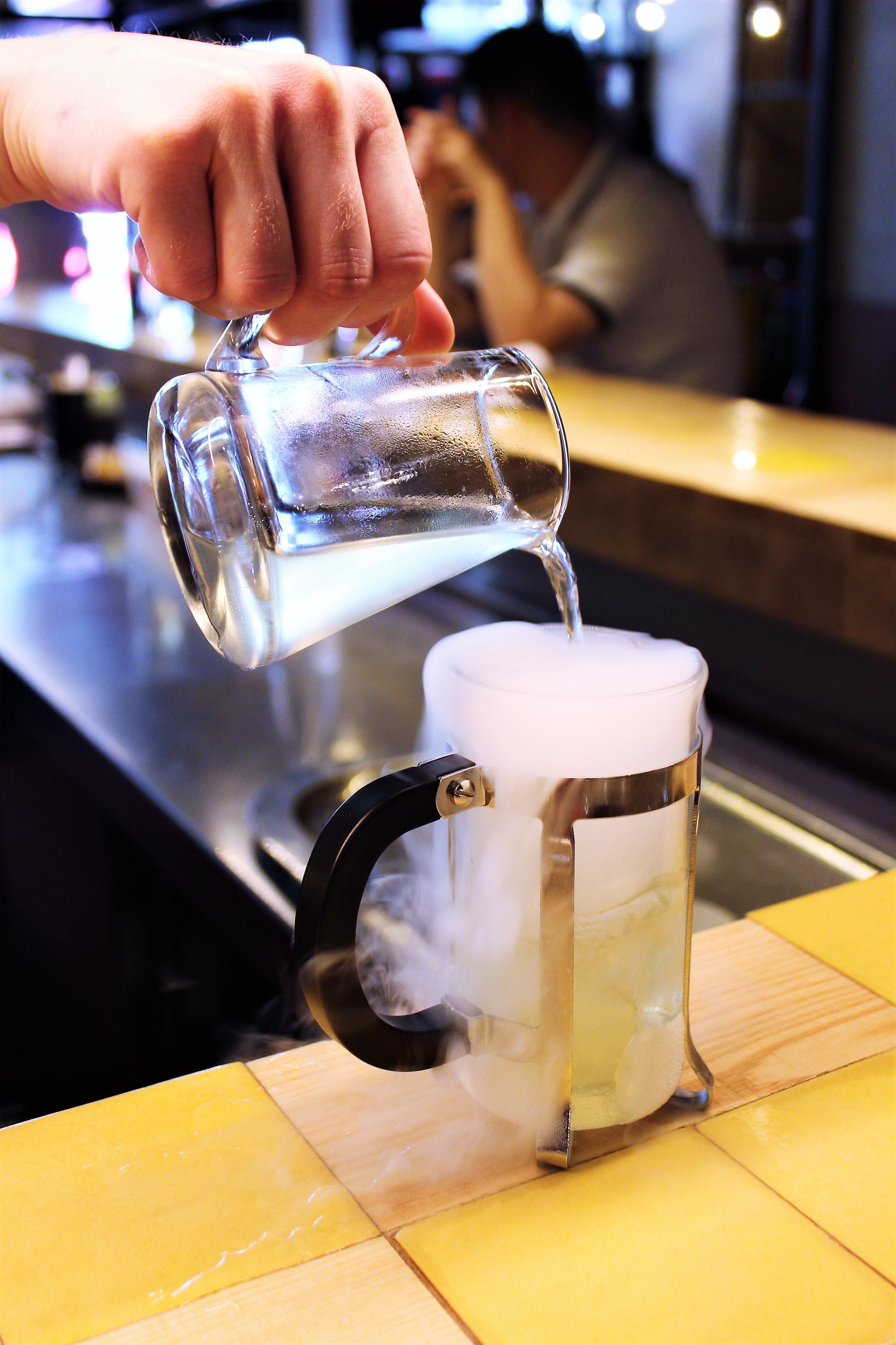 Instant Cider at Disfrutar in Barcelona