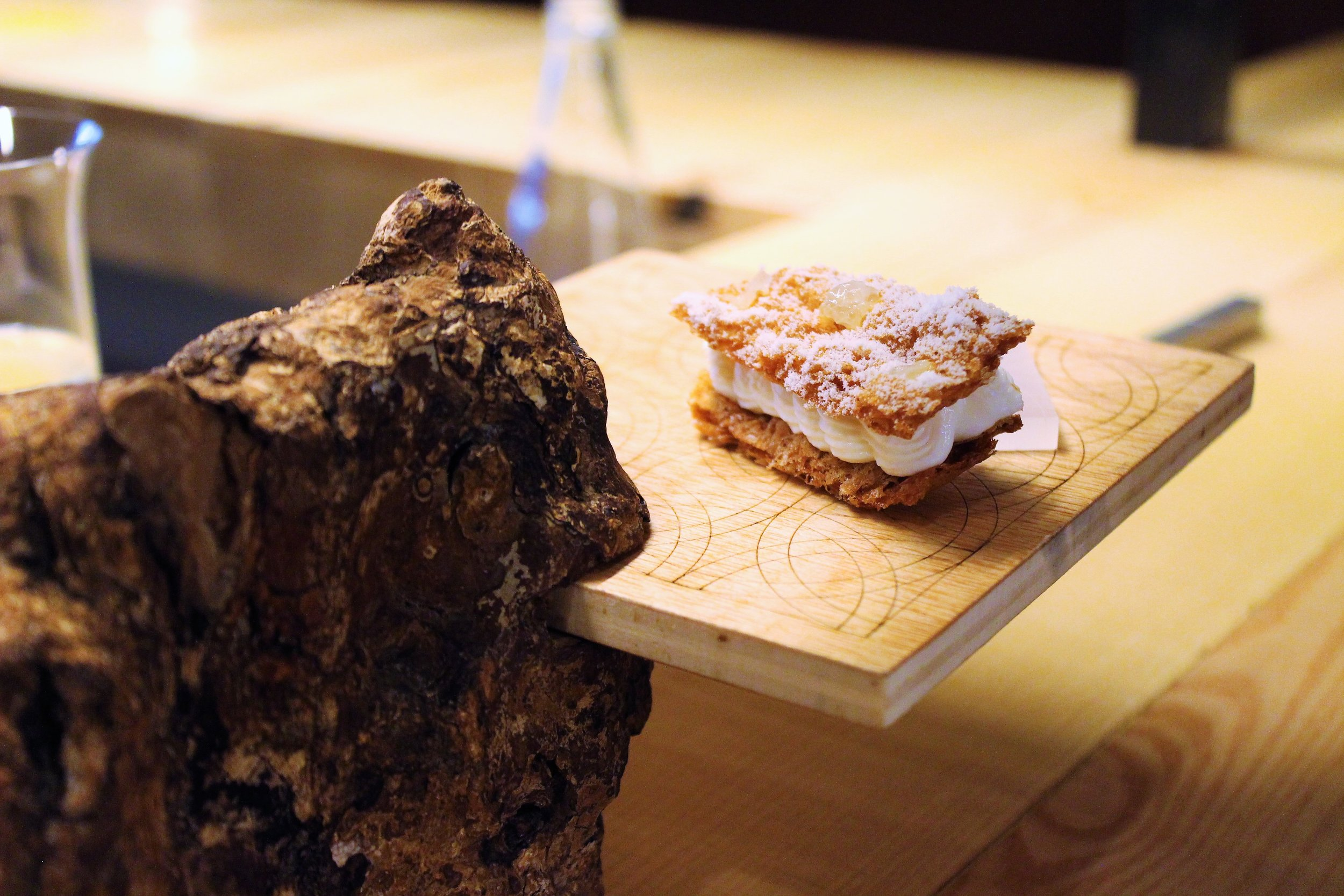 Mille-feuille of Idiazábal at Disfrutar in Barcelona