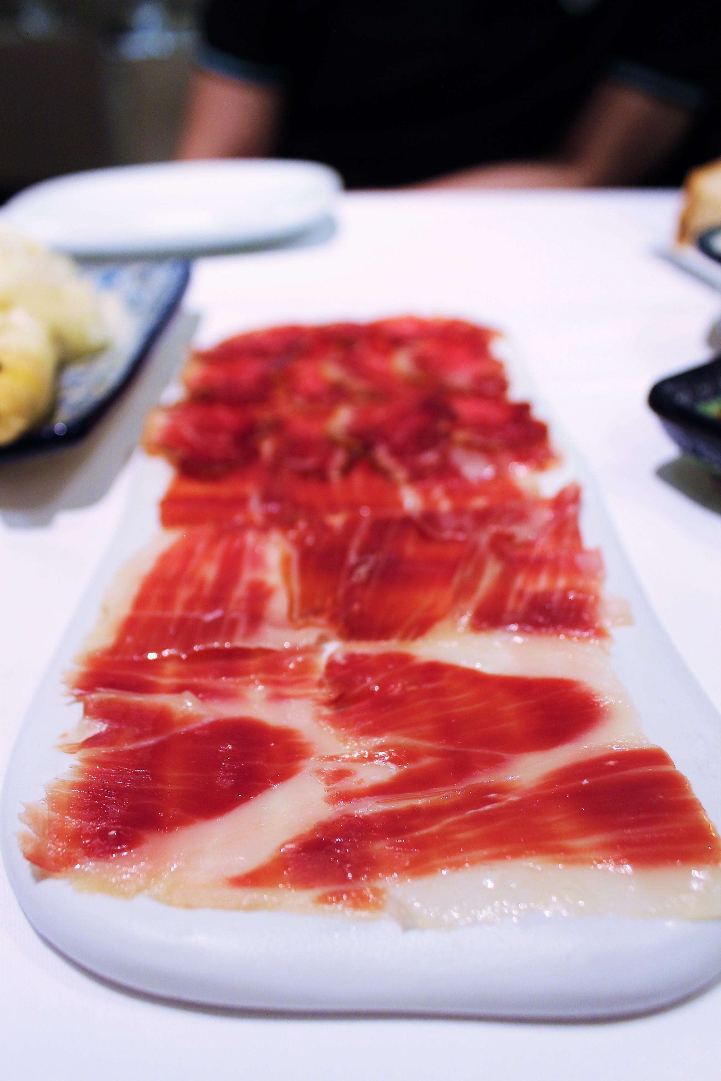 Cured Ham and Loin of Ibérico de Bellota at Igueldo in Barcelona