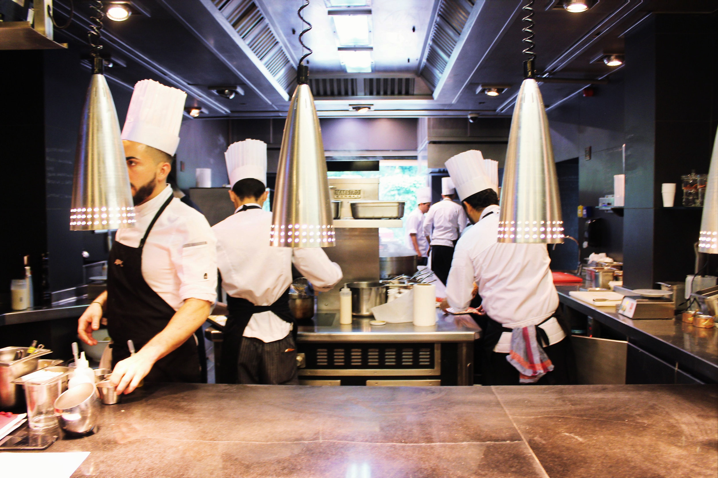 The kitchen at ABaC Restaurante in Barcelona