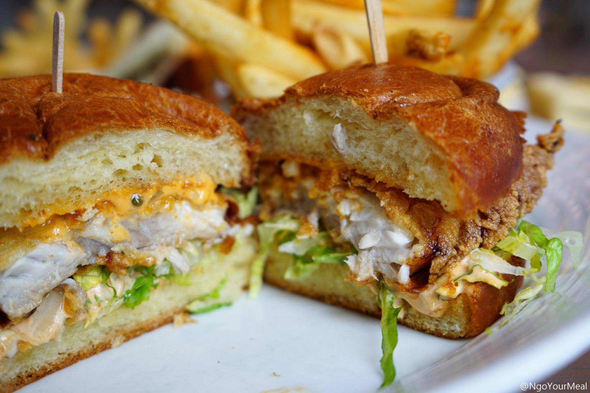 Fried Fish Sandwich at Island Creek Oyster Bar in Boston