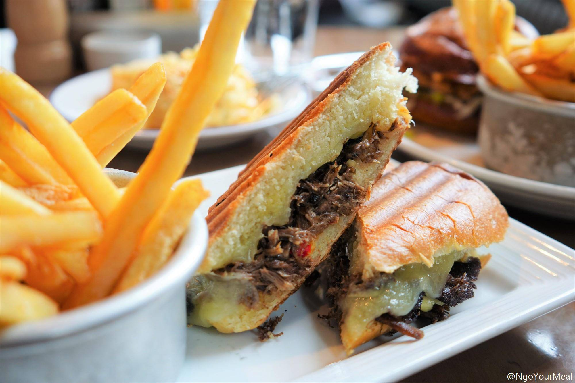 Pressed Short Rib Melt at Island Creek Oyster Bar in Boston