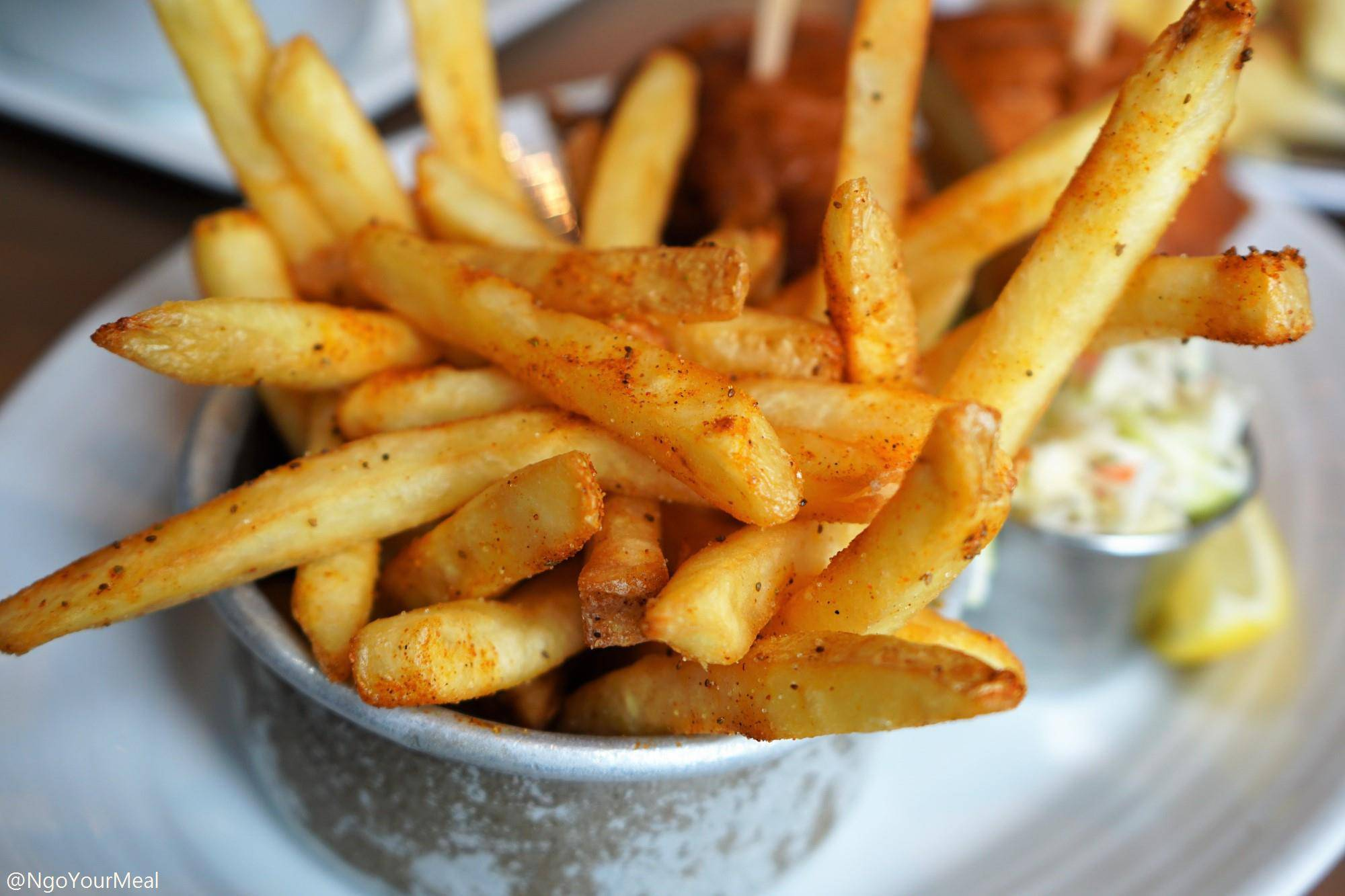 Old Bay Fries at Island Creek Oyster Bar in Boston