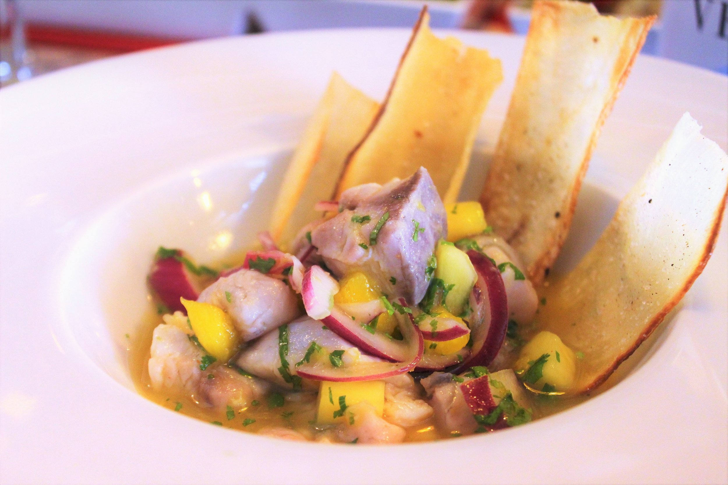 Ceraviche Special Ceviche with Yucca Chips at Cera 23 in Barcelona