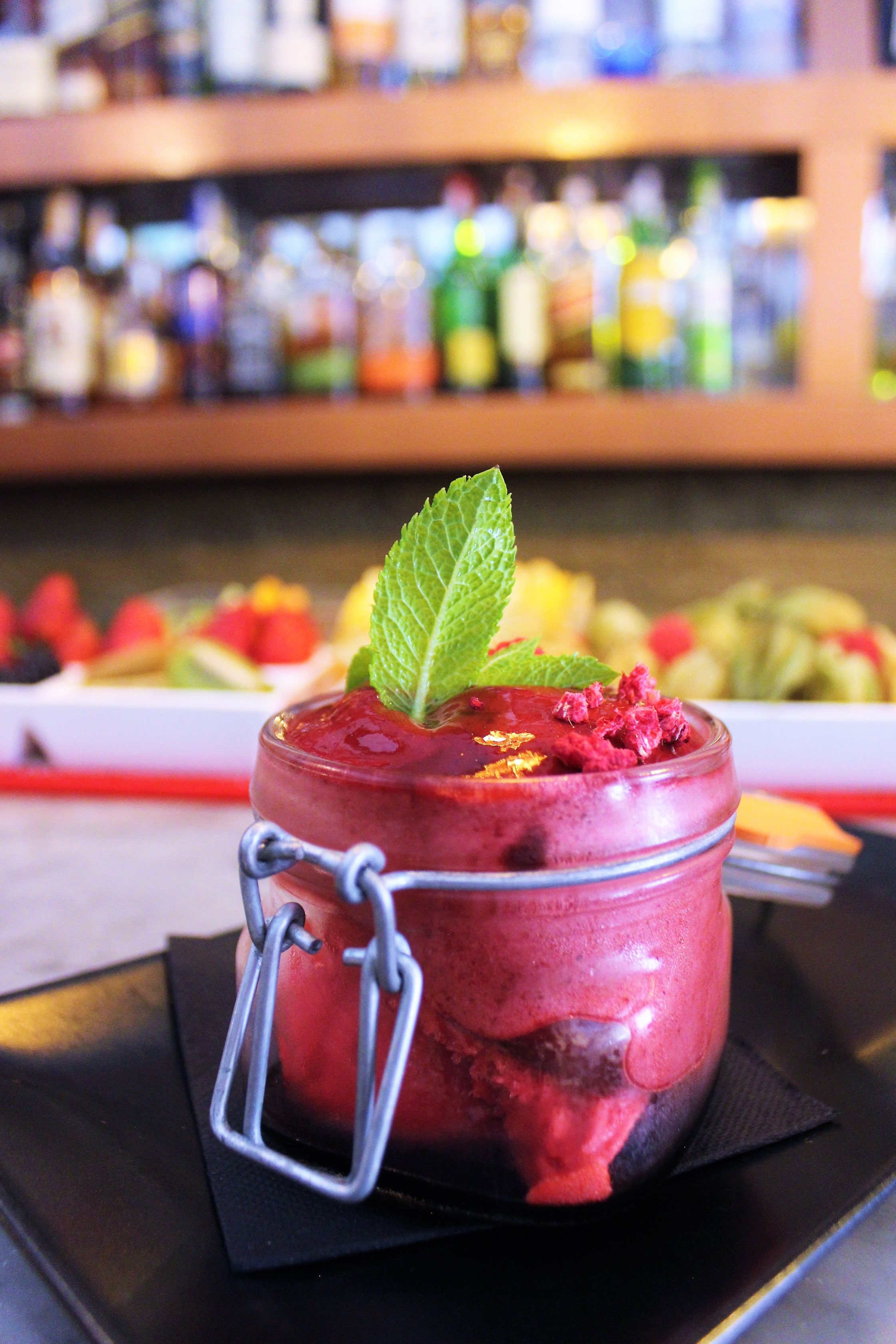 Blackberry Mojito Mousse at Cera 23 in Barcelona