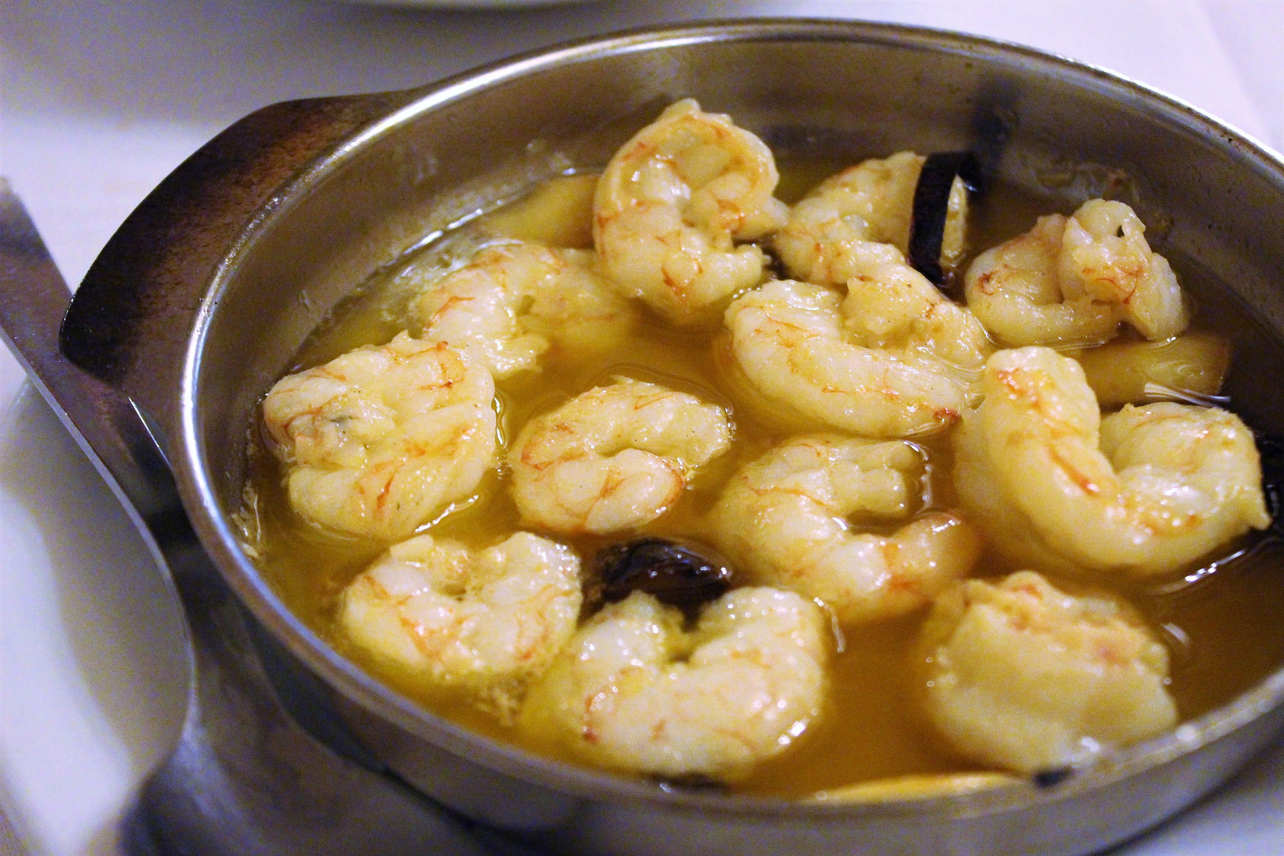 Shrimps with Garlic and Chili at Can Culleretes in Barcelona
