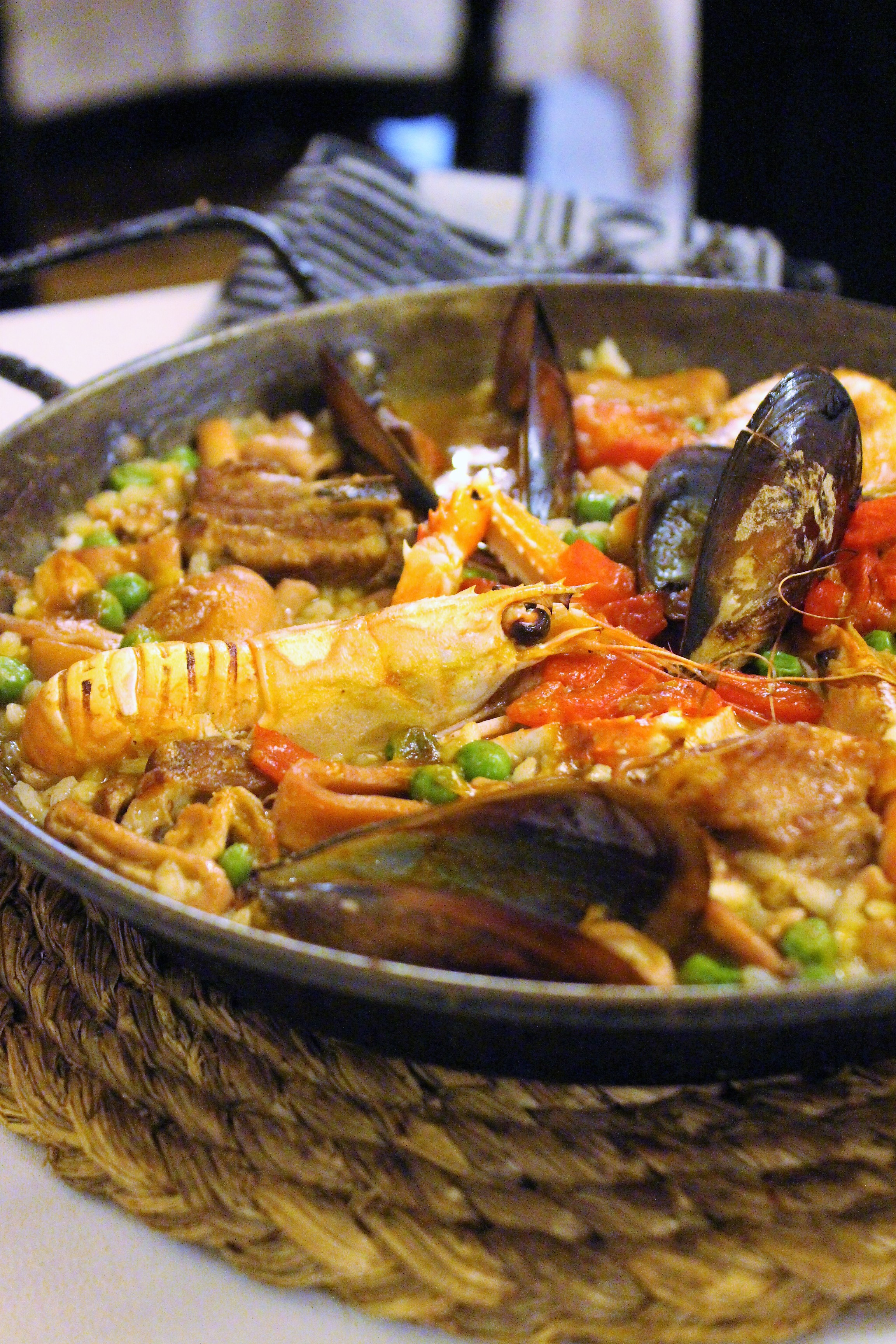 Paella Especial (Fish and Meat) at Can Culleretes in Barcelona