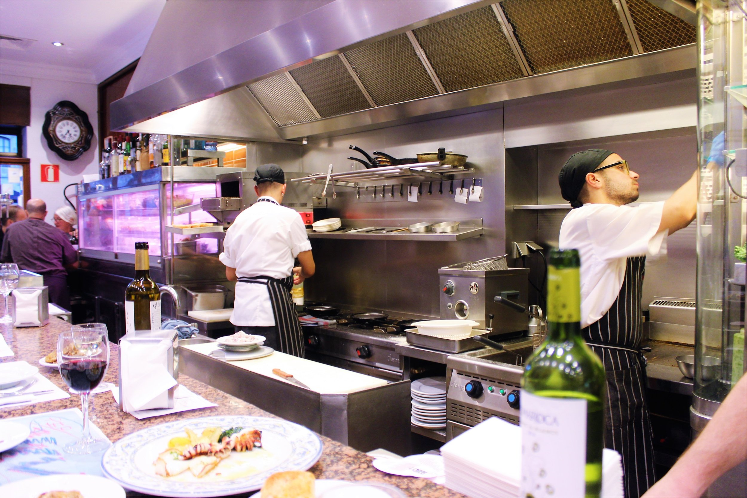 Kitchen at Cal Pep in Barcelona