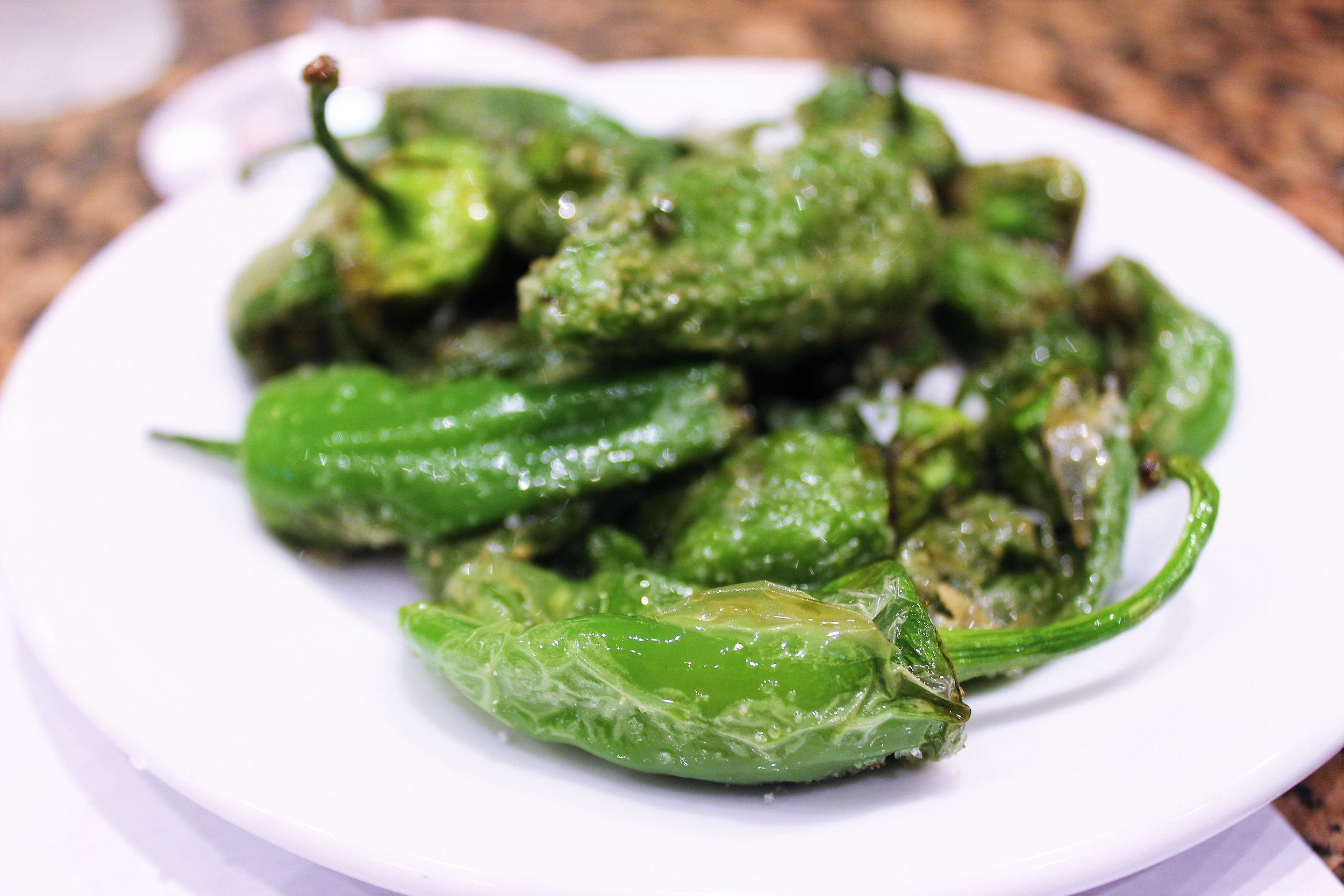 Shishito Peppers at Cal Pep in Barcelona