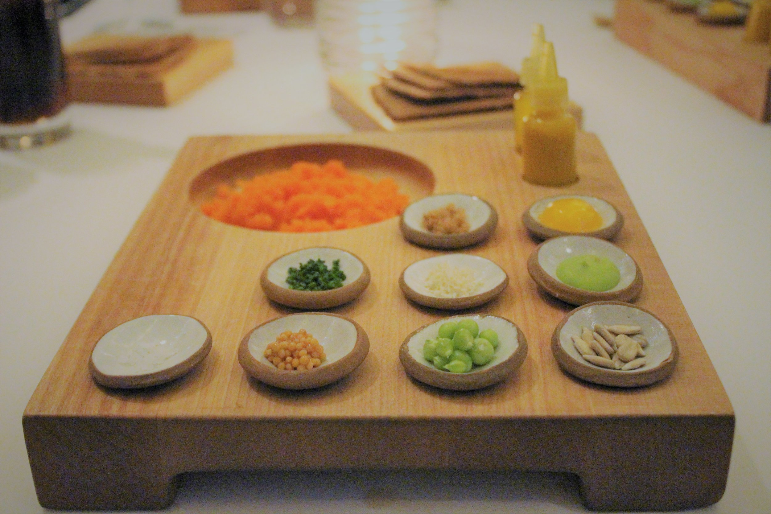 2012 Carrot Tartare with Rye Toast and Condiments at EMP in New York City