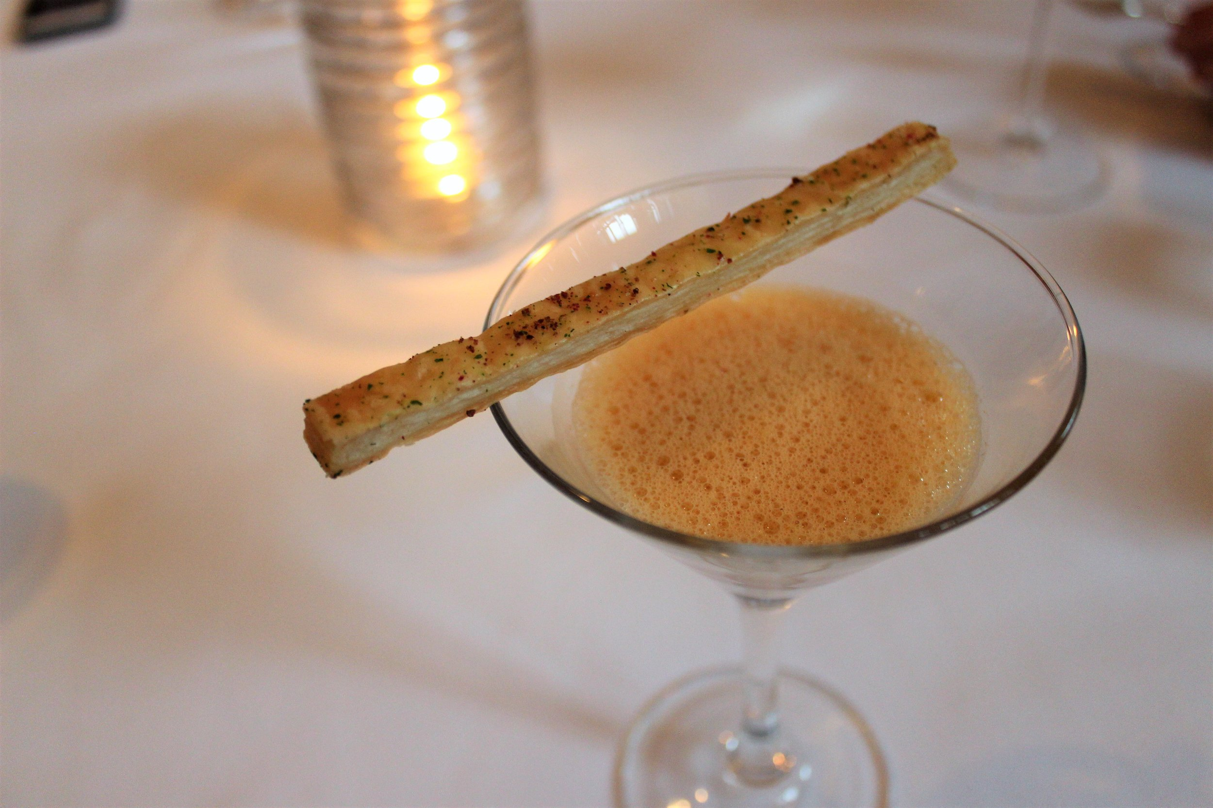 2006 Sea Urchin Cappuccino with Peeky Toe Crab and Cauliflower at EMP in New York City