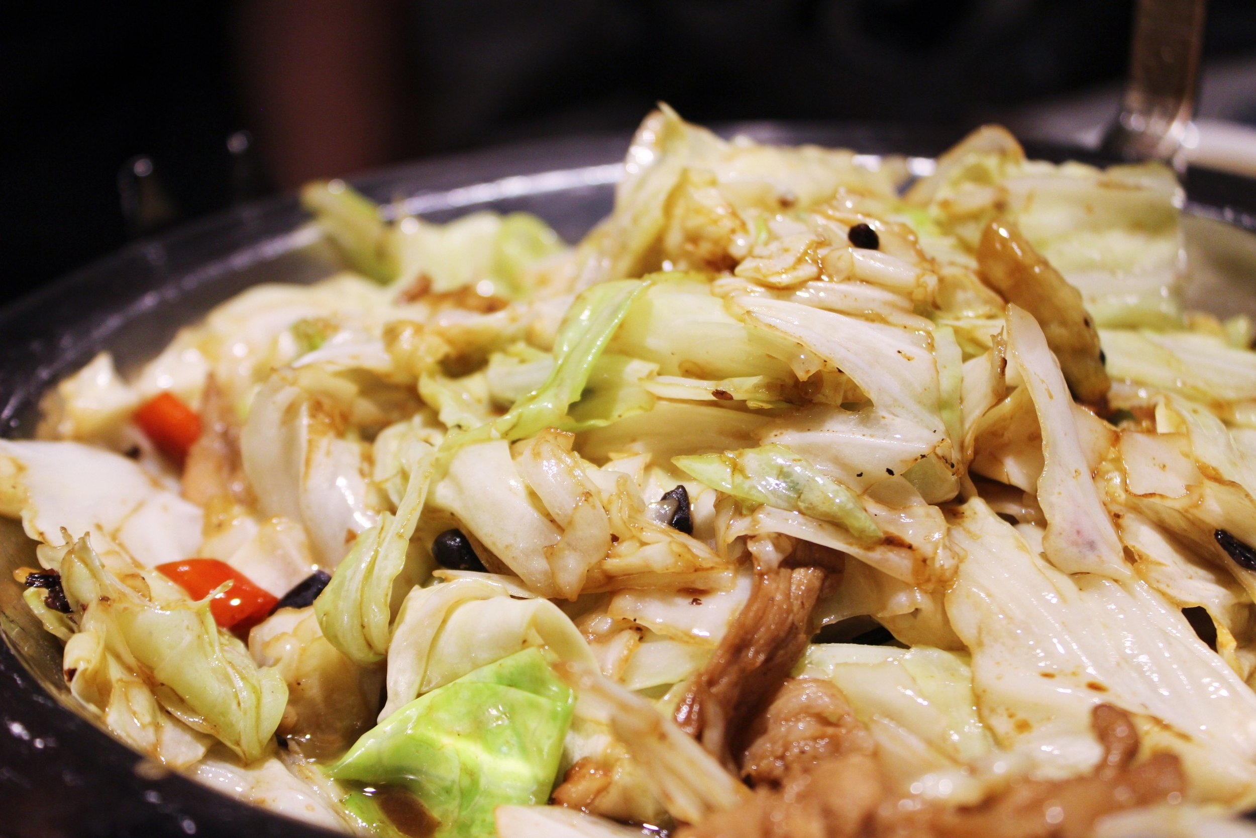 Fried Cabbage with Soy Sauce at Szechuan Mountain House