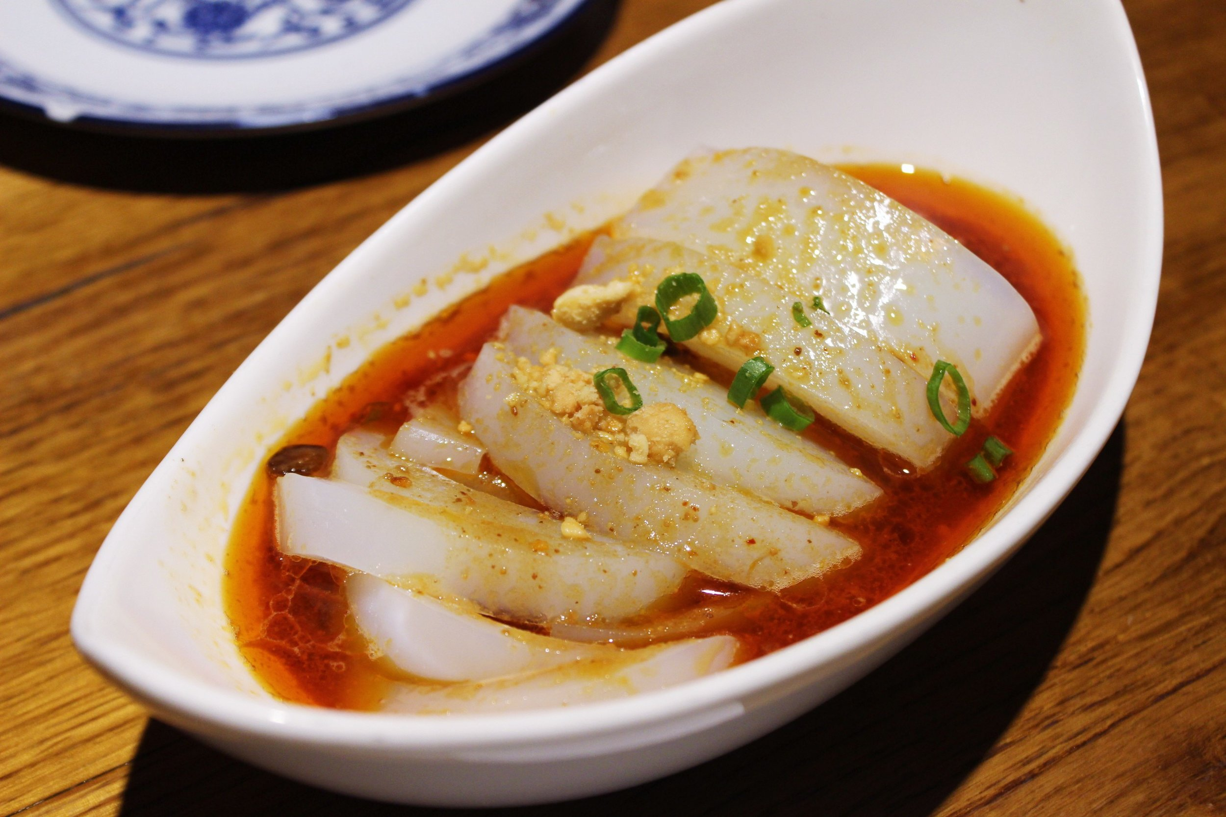 Spicy Mung Bean Jello Salad at Szechuan Mountain House