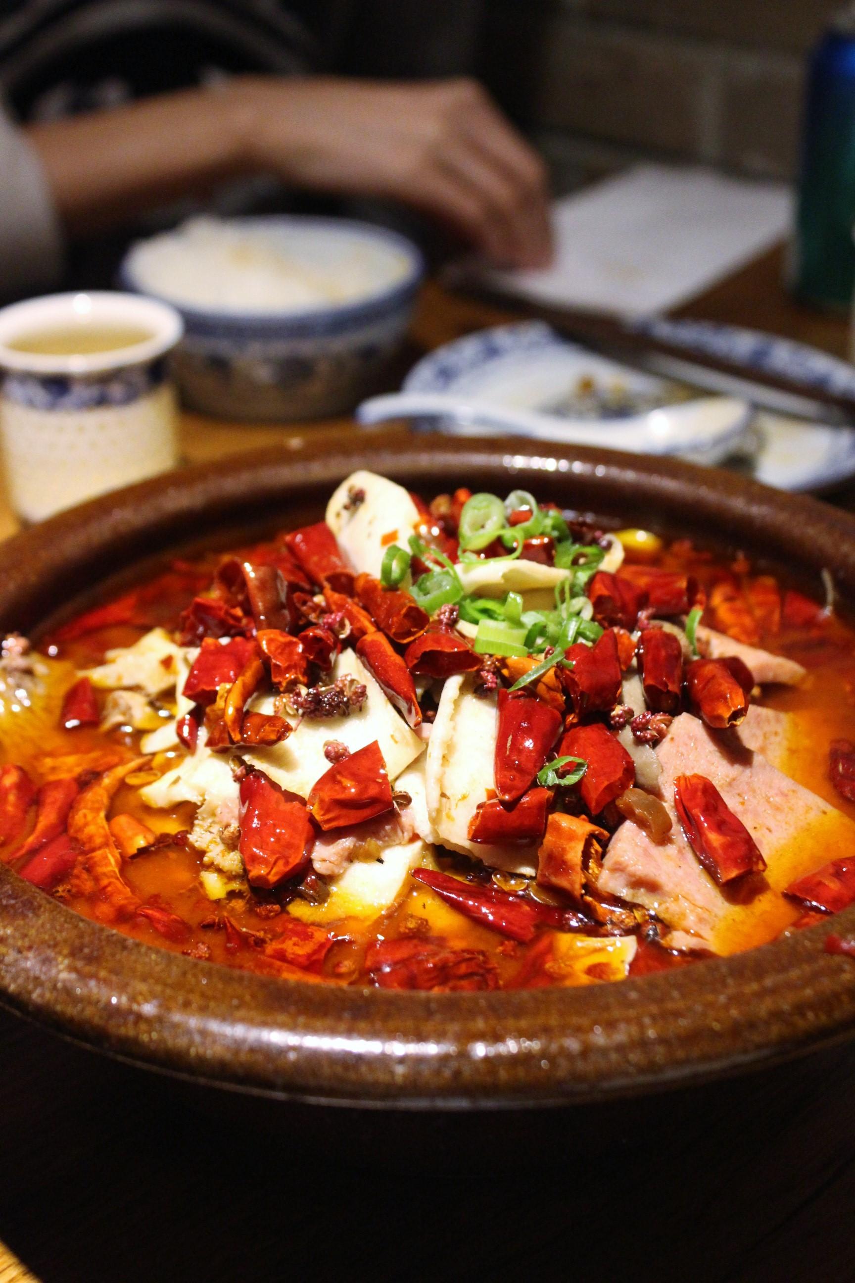 Tilapia Stew with Chili at Szechuan Mountain House