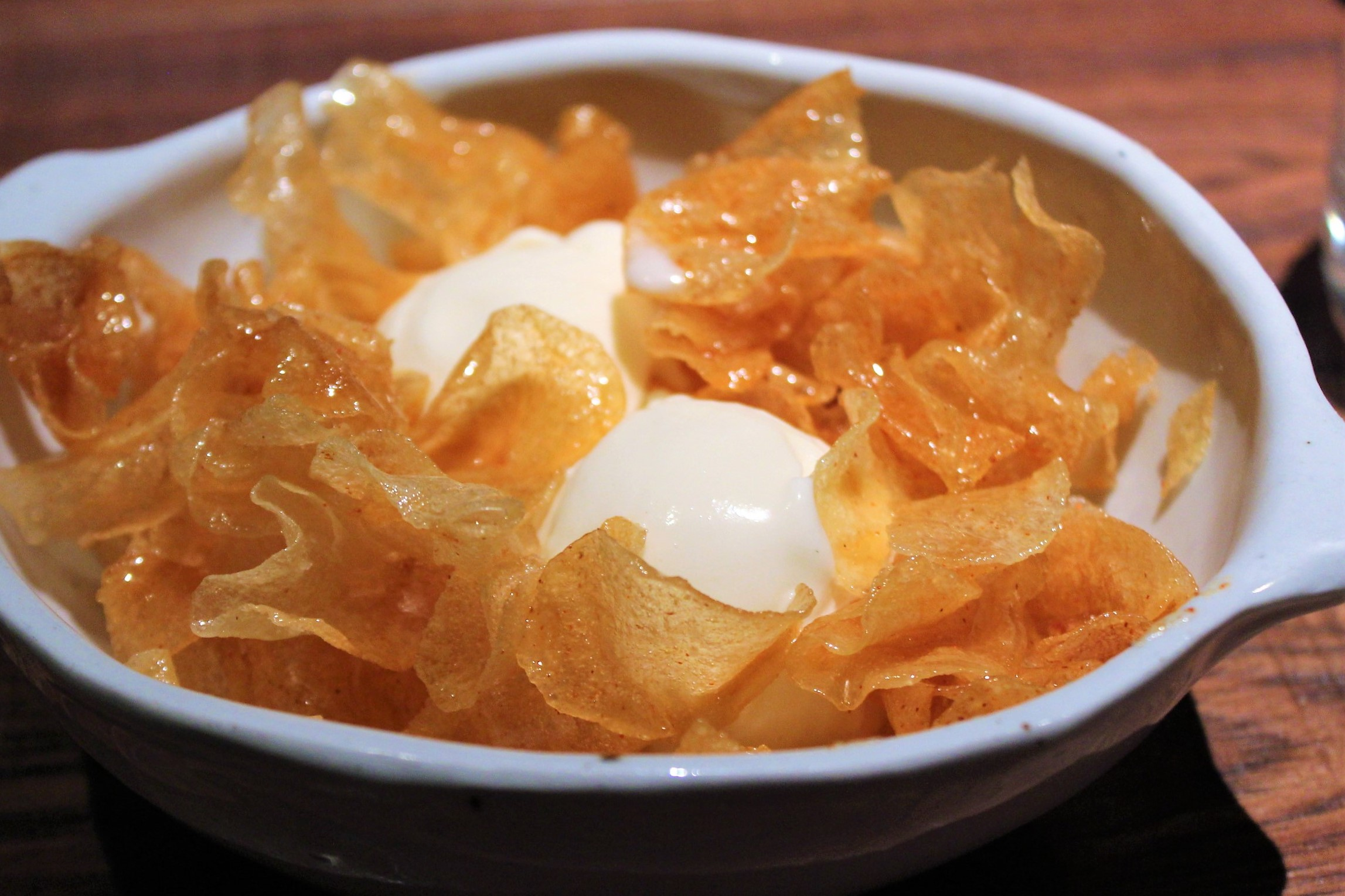 Honey Butter Chips at Oiji in New York City