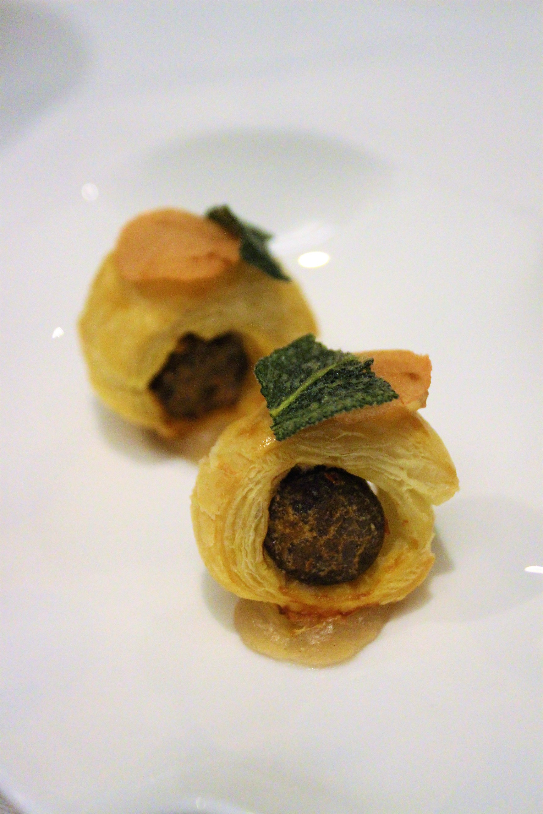 Lamb Sausage Wrapped in Puff Pastry at Gabriel Kreuther in New York City