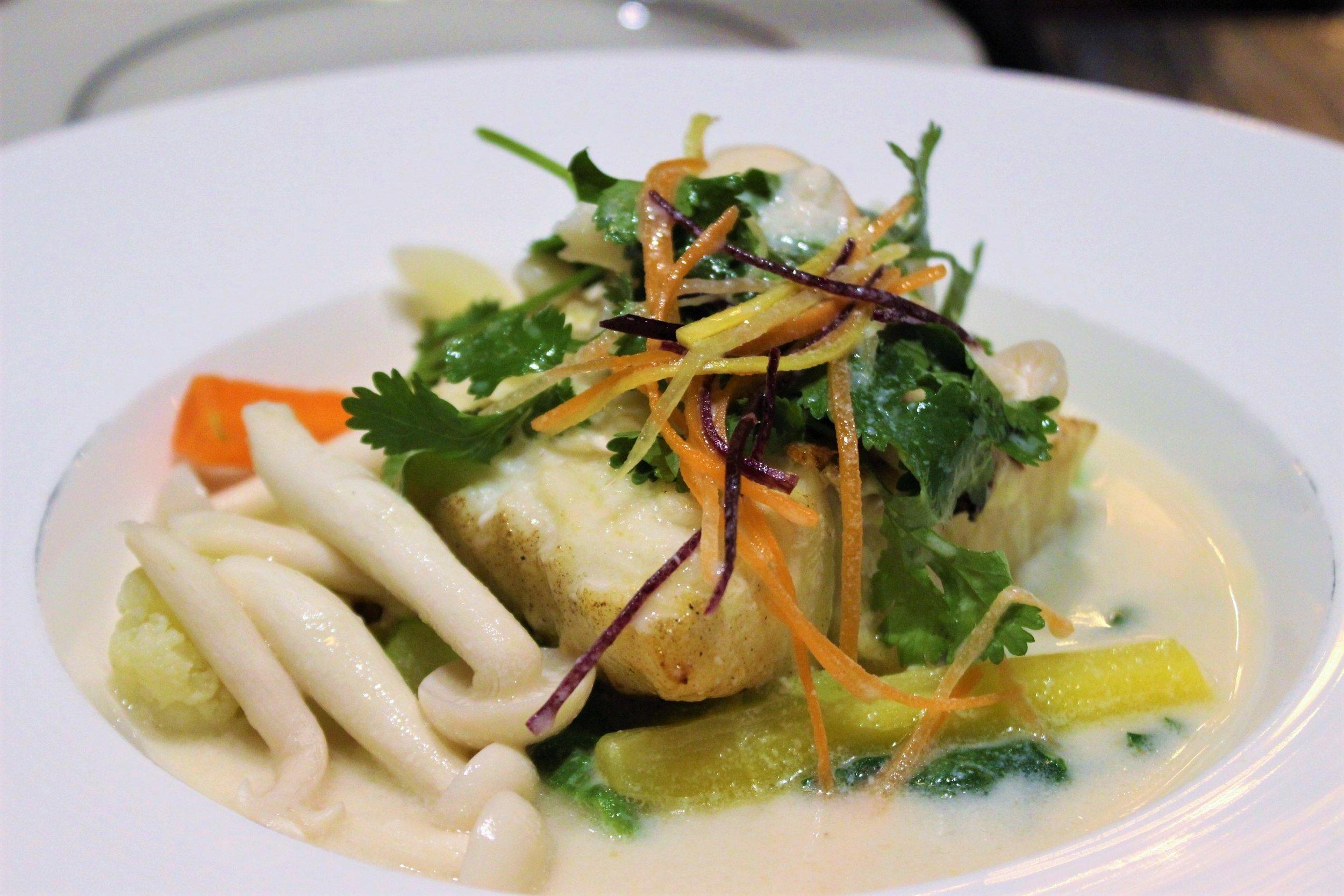 Chilean Sea Bass in Aromatic Coconut Milk