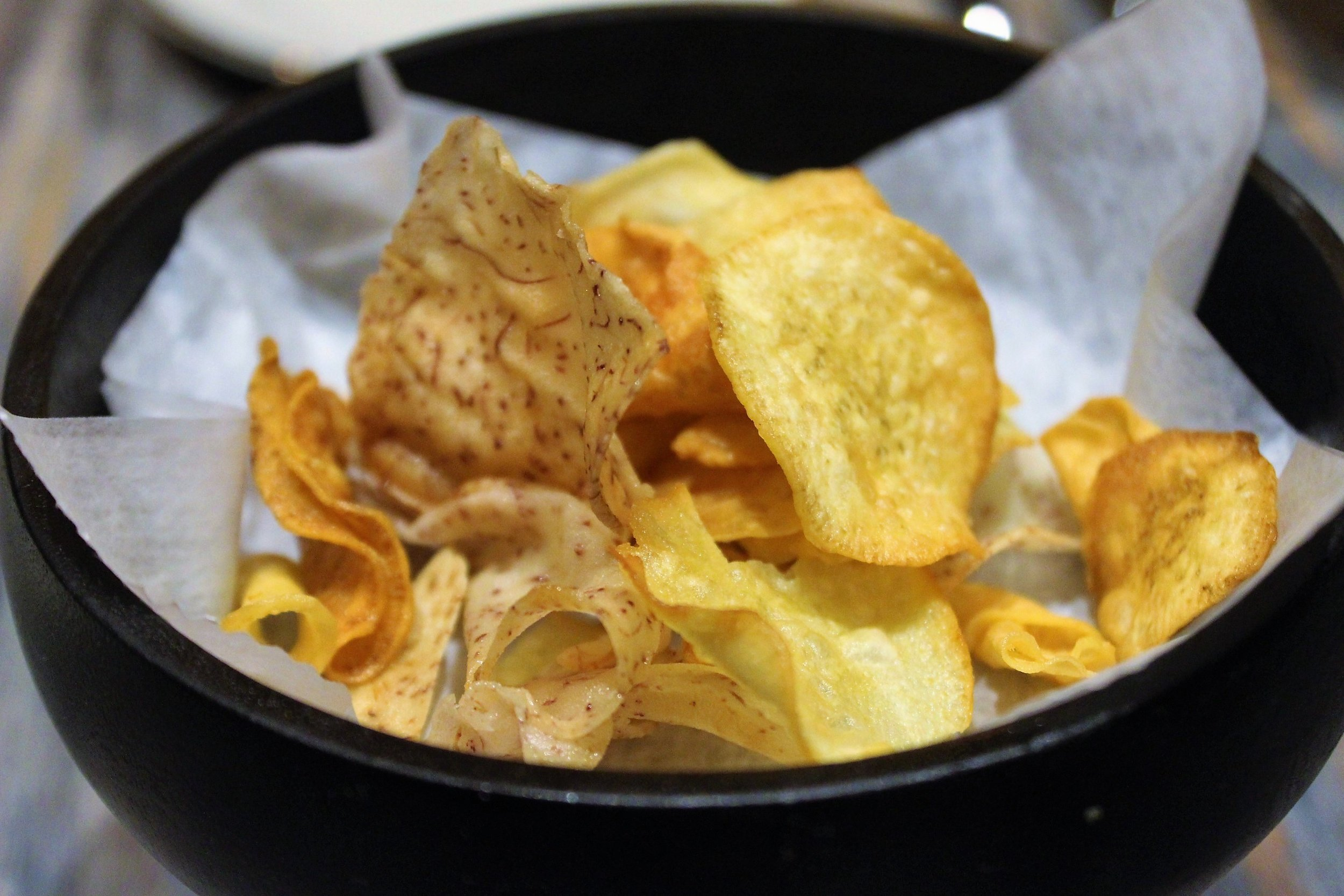 Taro and Sweet Potato Chips