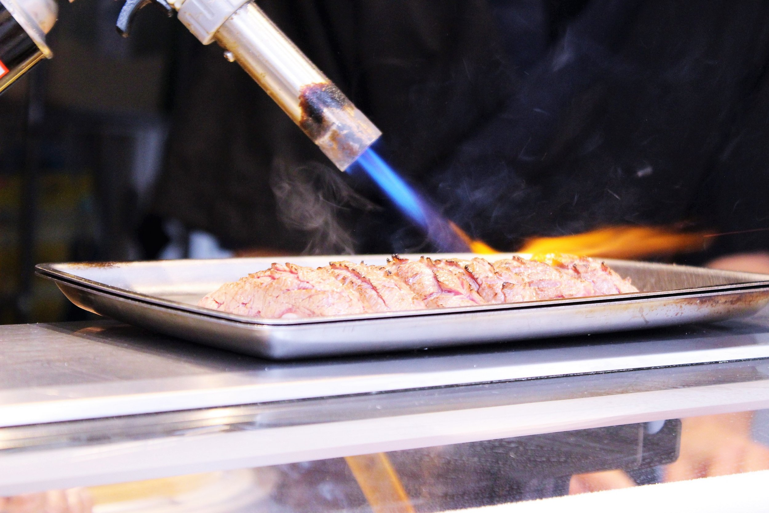 Torching the sushi