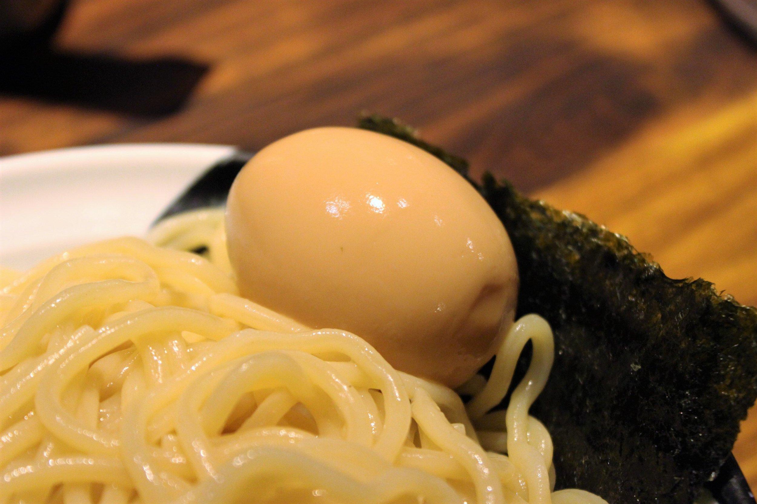 Egg at Menya Musashi Kodo