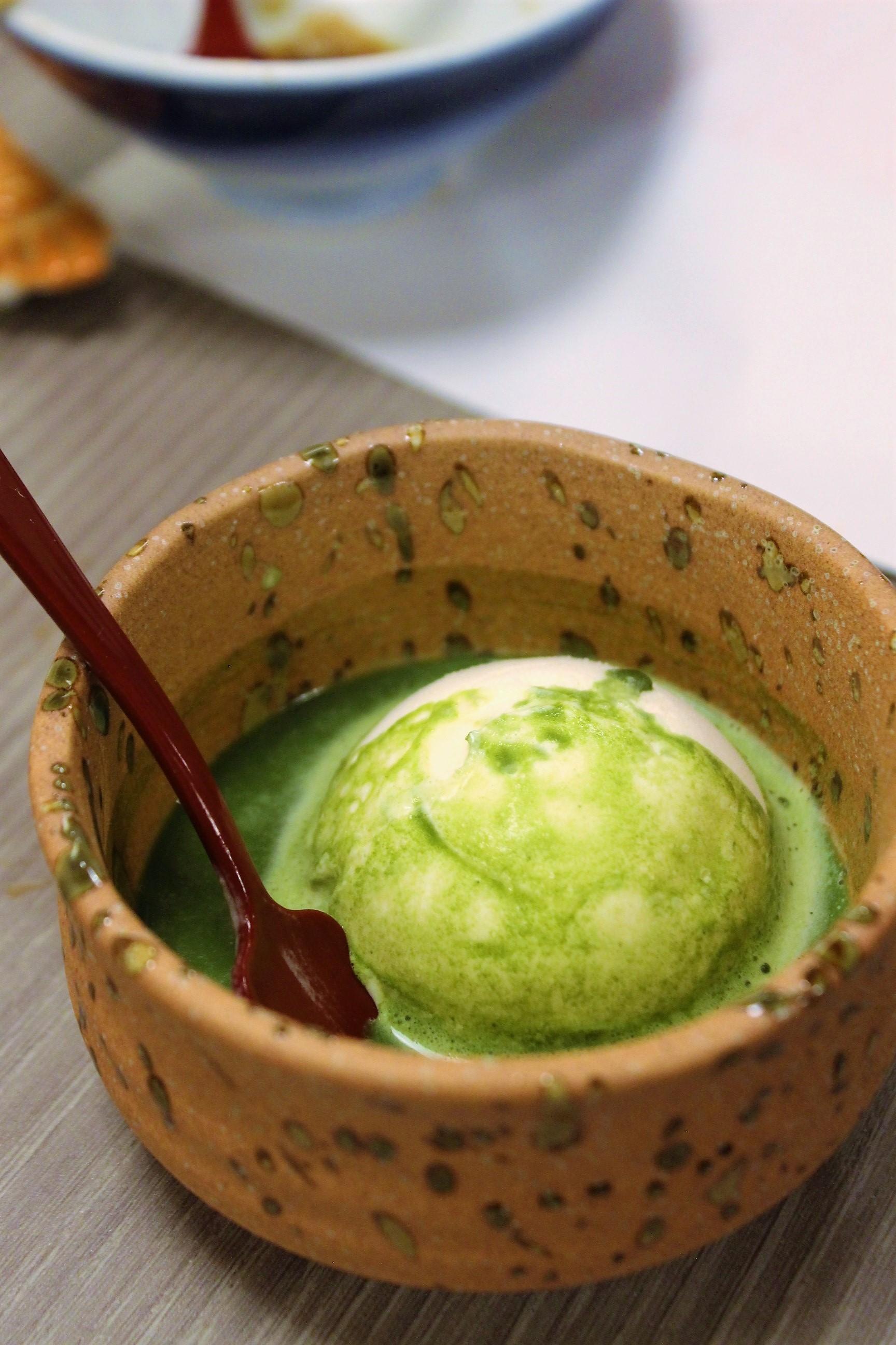 Ice Cream with Matcha