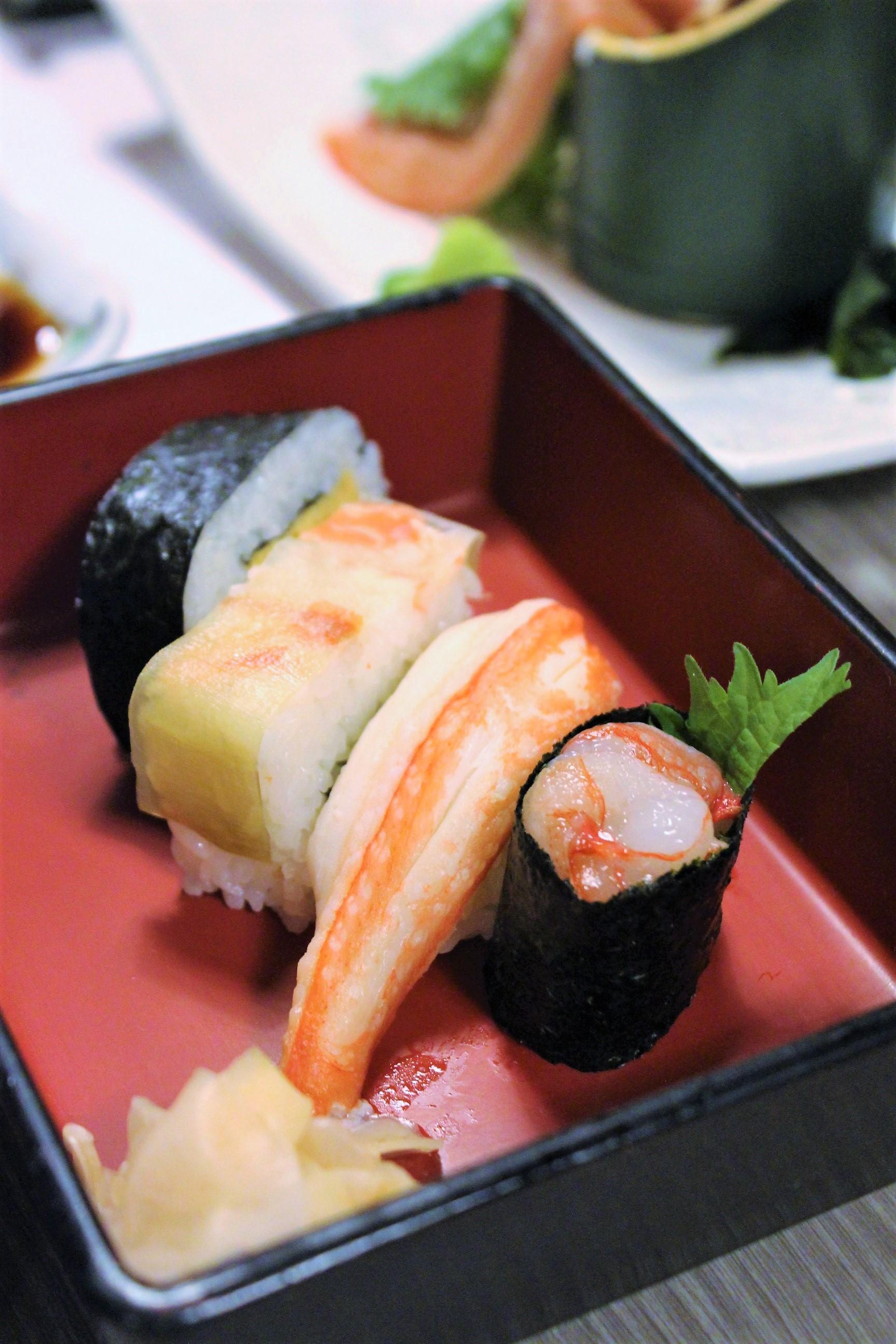 Crab Sushi at Kani Doraku Dotonbori Honten