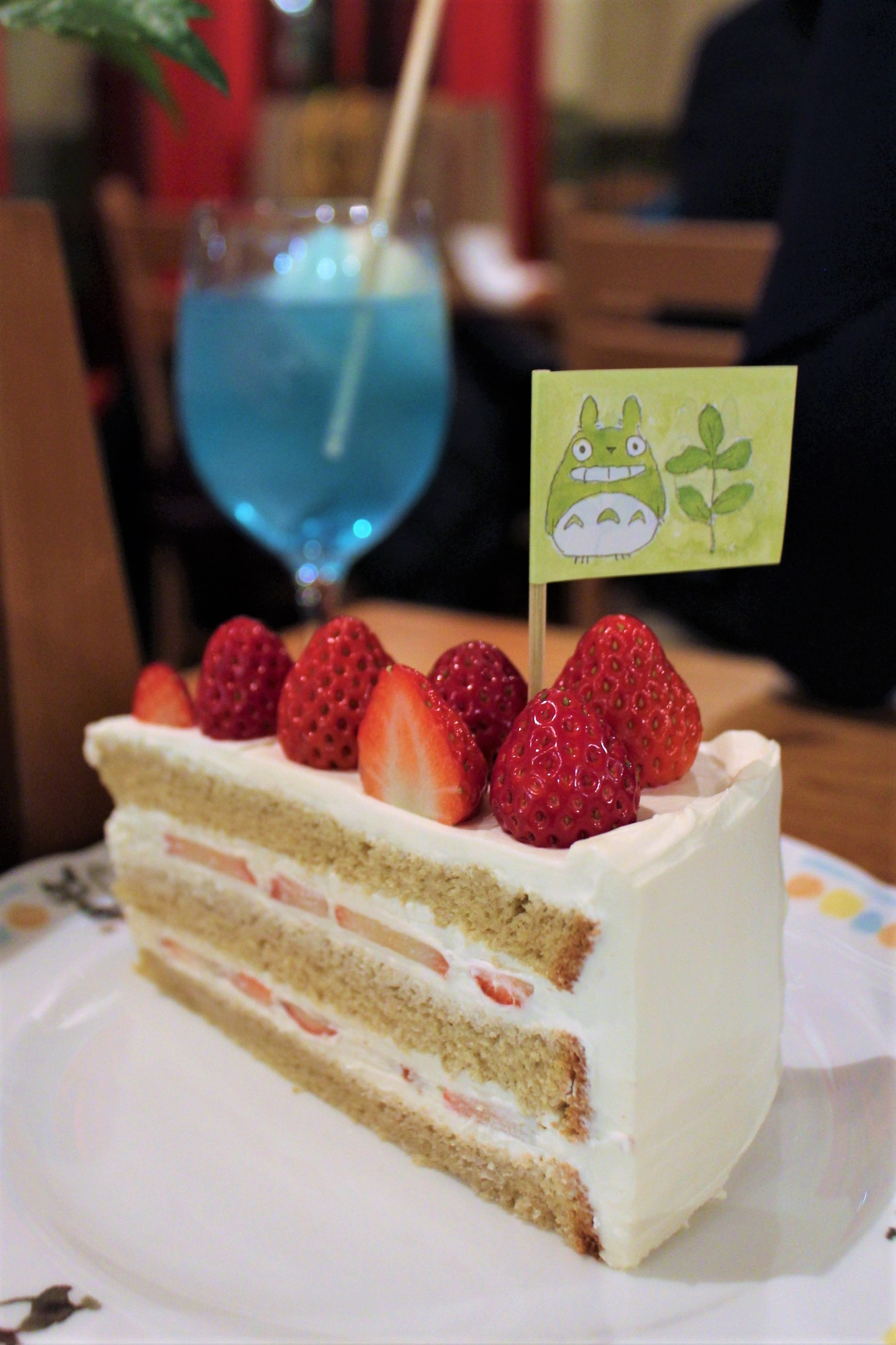 Strawberry Shortcake at Straw Hat Cafe in Tokyo, Japan