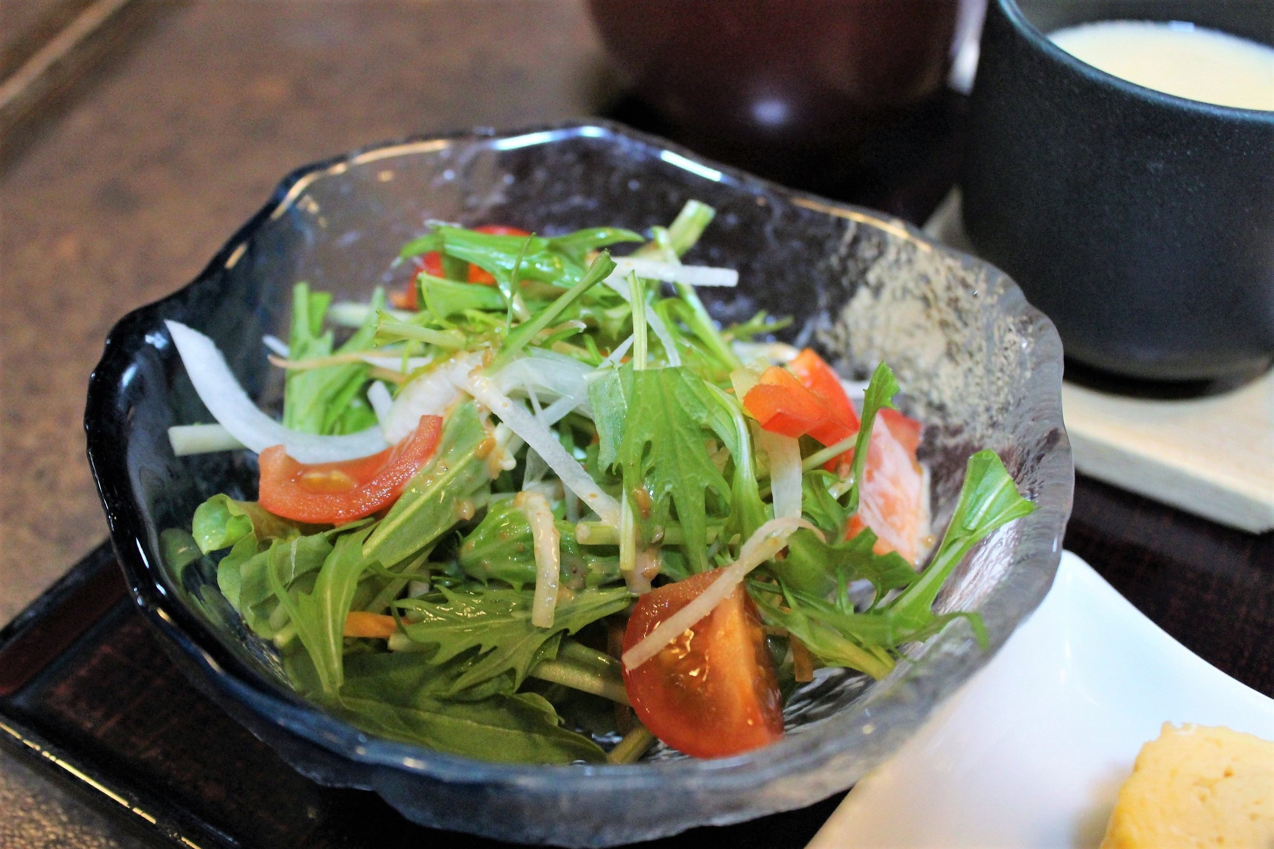 Salad at Edogawa Naramachi in Nara, Japan