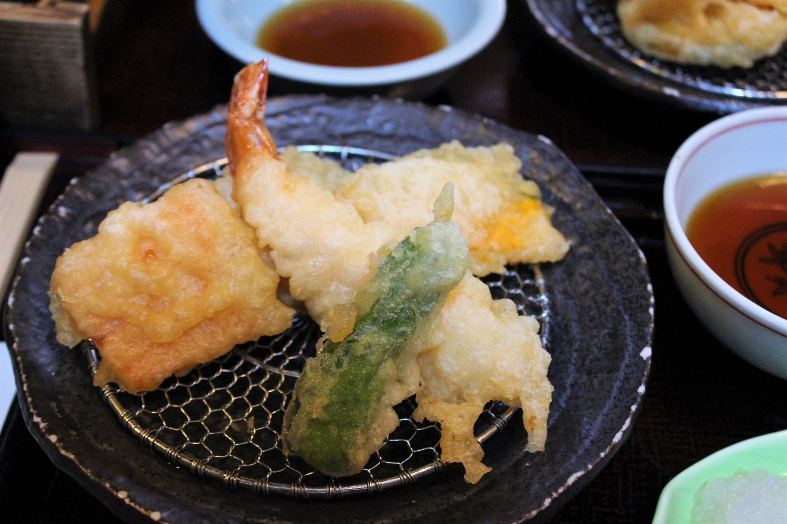 Assorted Tempura at Edogawa Naramachi in Nara, Japan