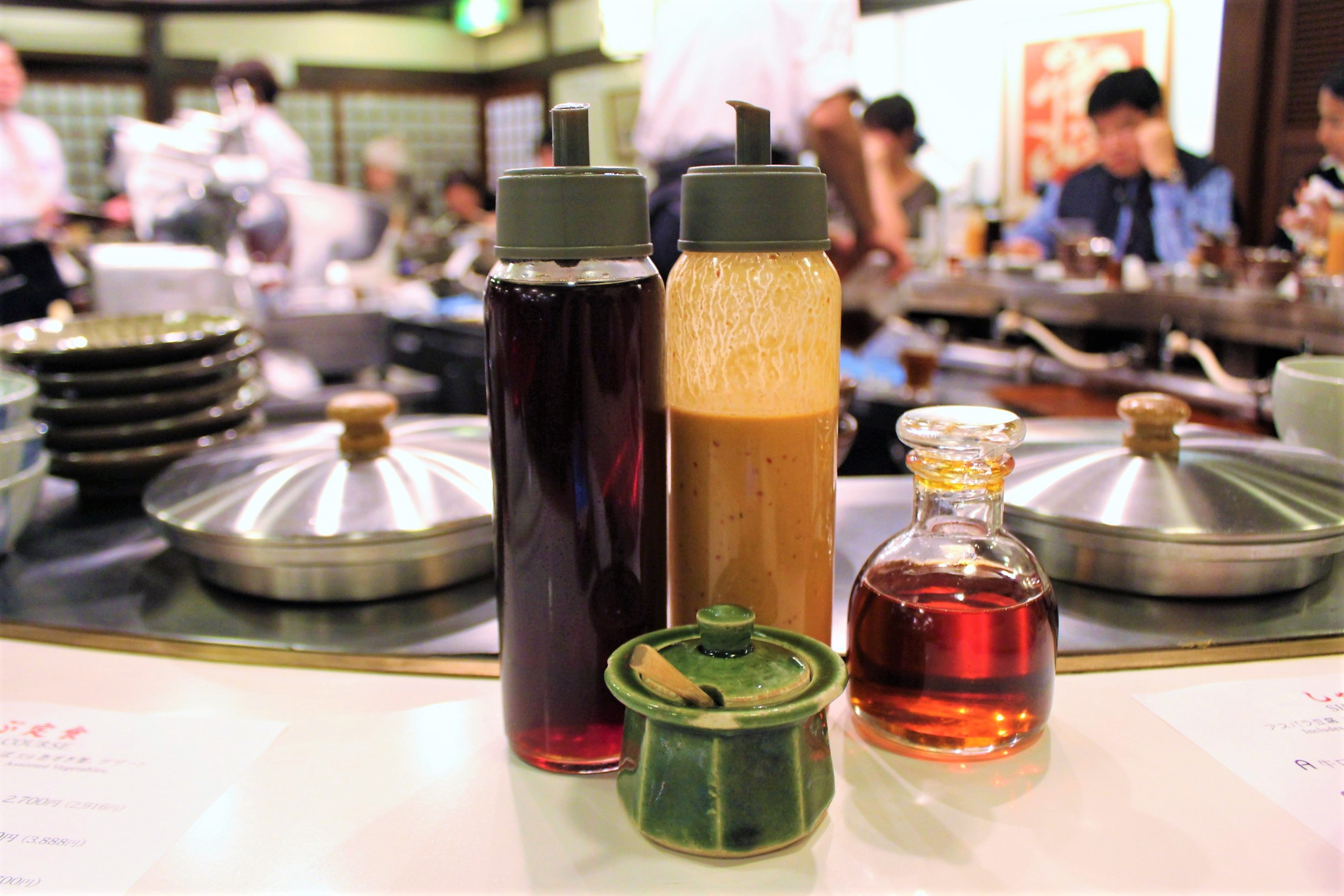 Sauces at Shabusen in Tokyo, Japan