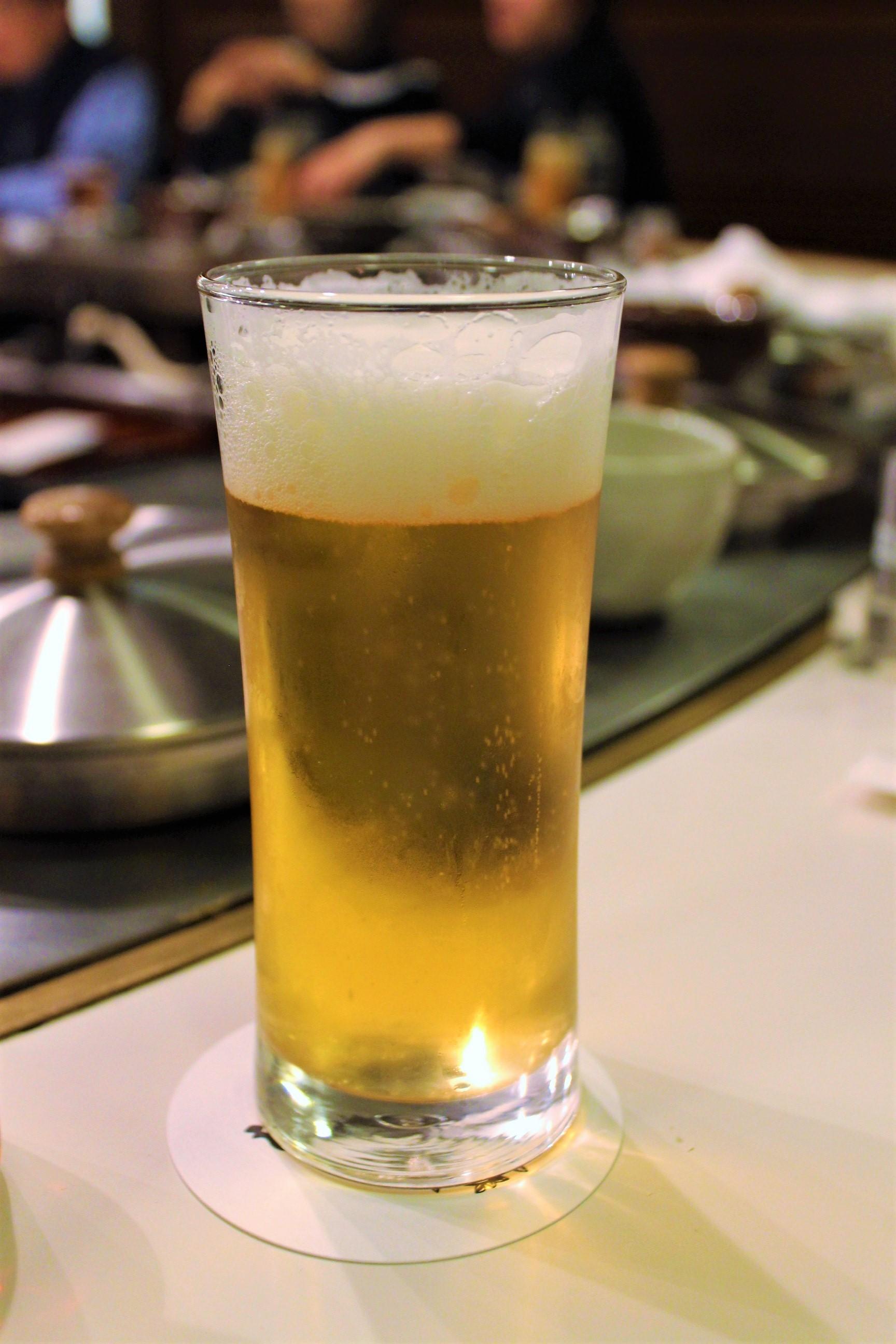 Draft Beer at Shabusen in Tokyo, Japan
