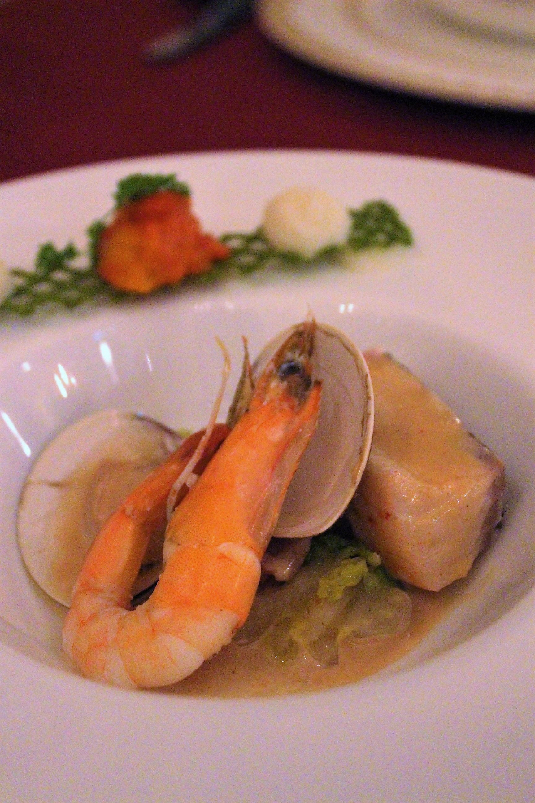 Steamed Pacific Cod with White Wine Sauce at Magellan's in DisneySea, Tokyo, Japan