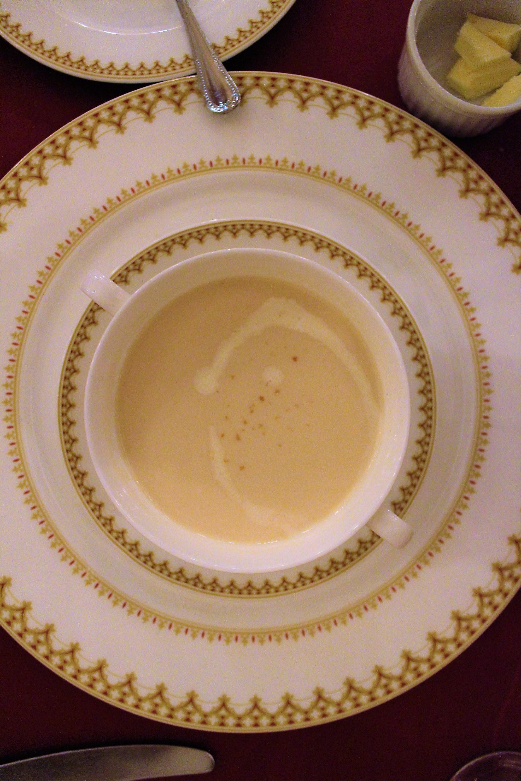 Radish Cream Soup at Magellan's in DisneySea, Tokyo, Japan
