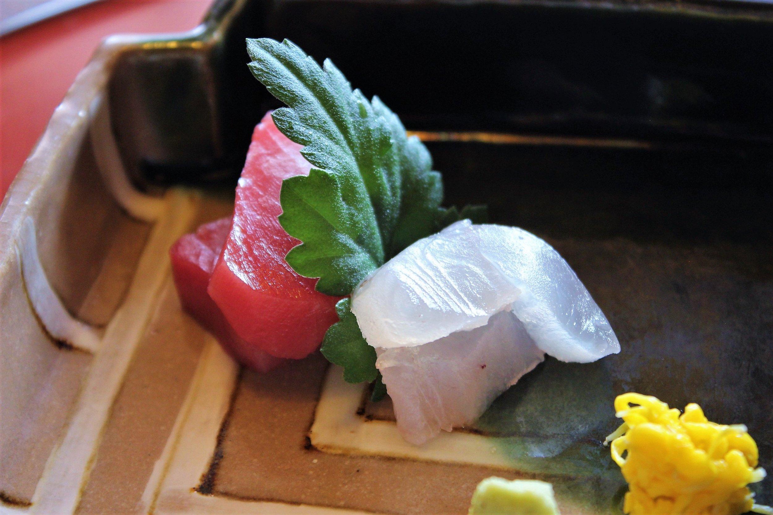 Fresh Sashimi at Tokyo Shiba Tofuya Ukai in Tokyo, Japan