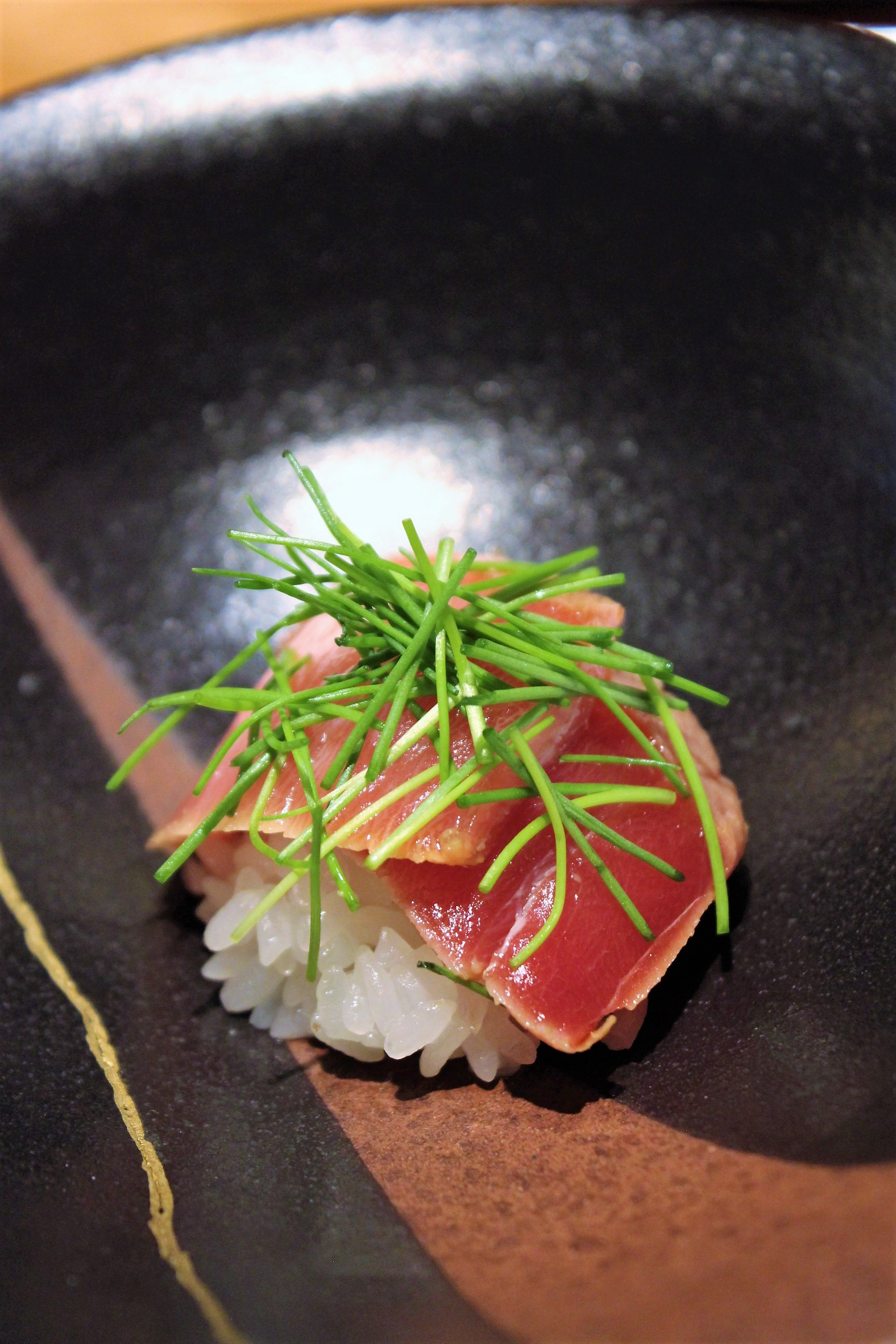 Seared Chutoro with Spring Onion at Kien in Tokyo, Japan